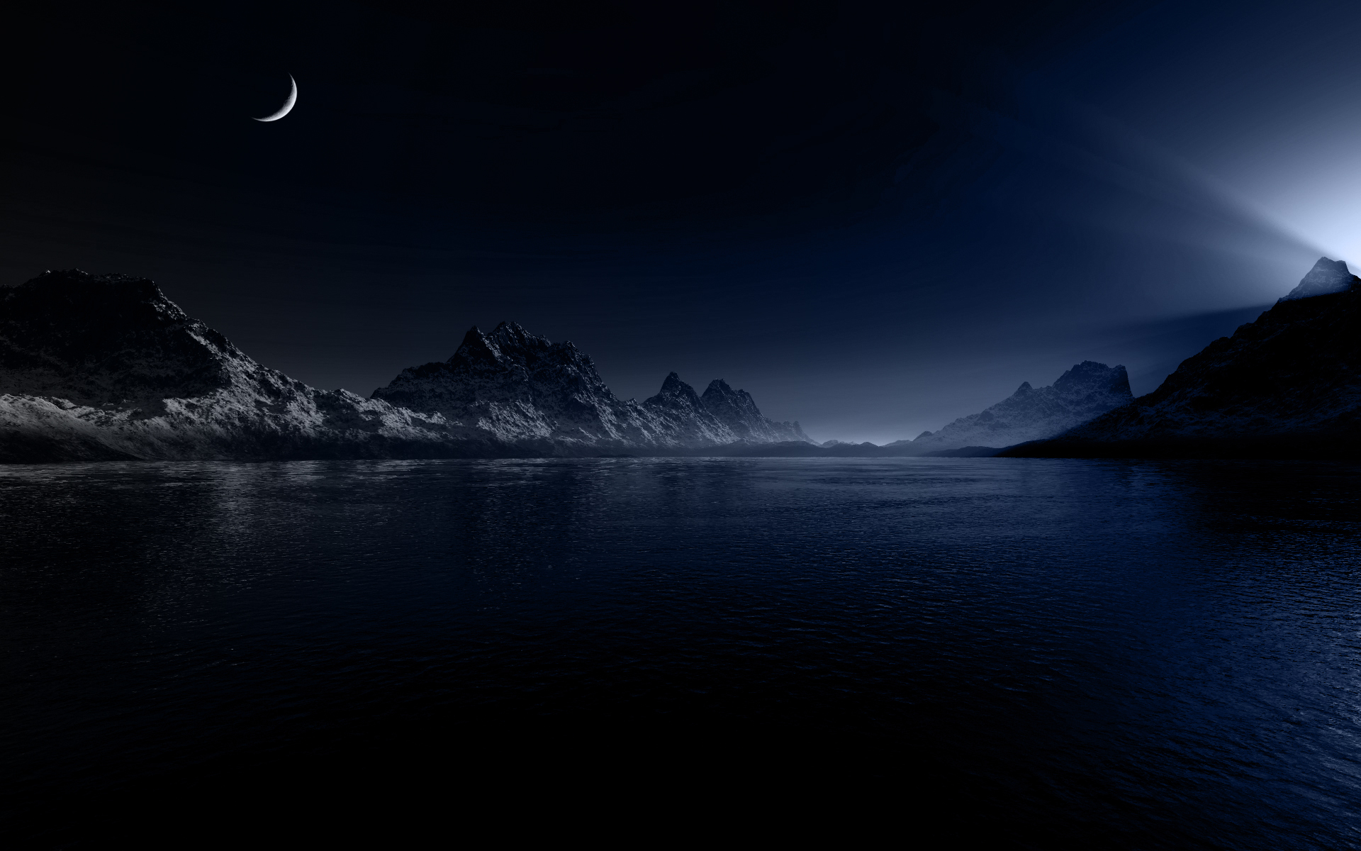 Night Landscape Wallpaper