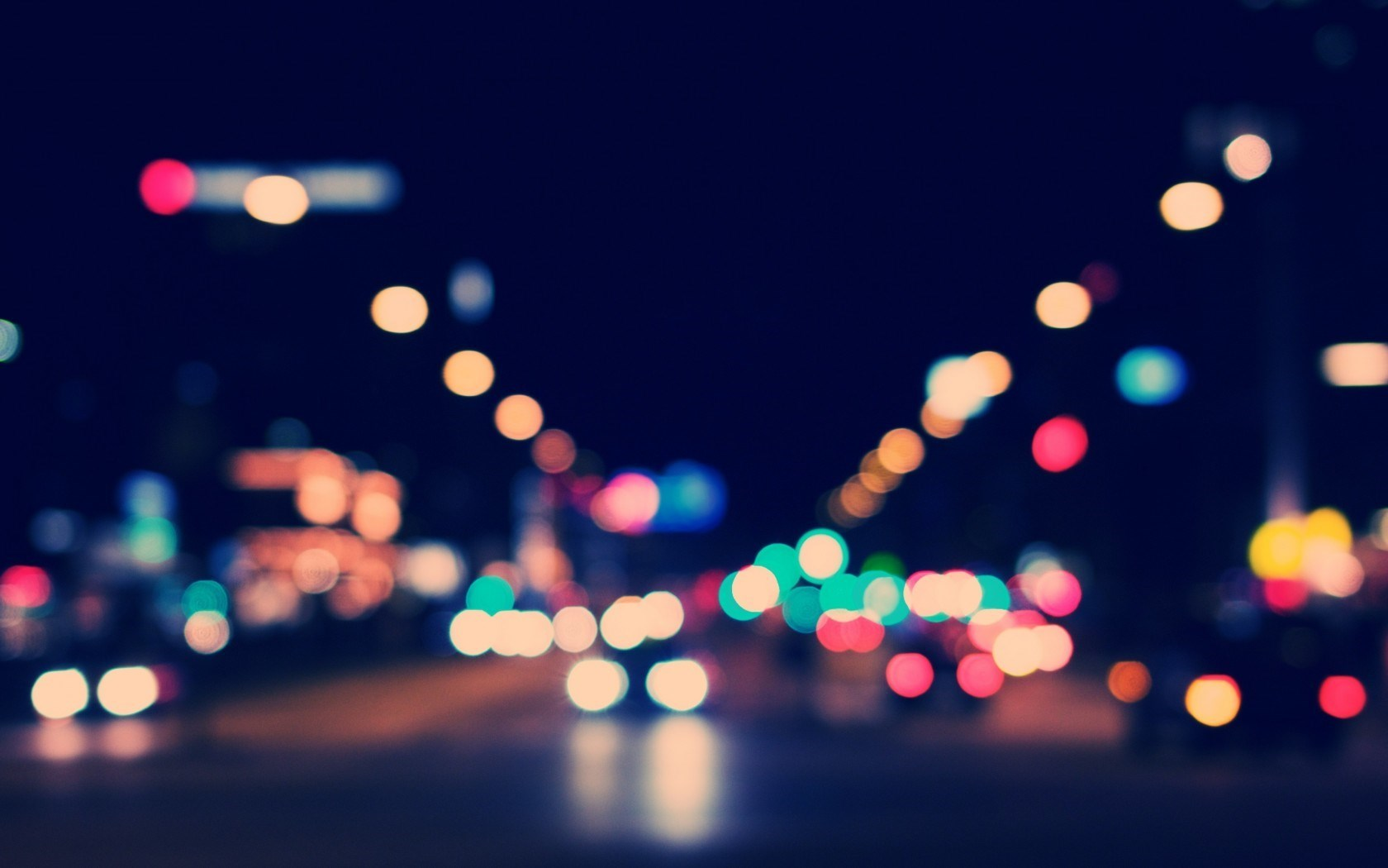 City Night Street Lights