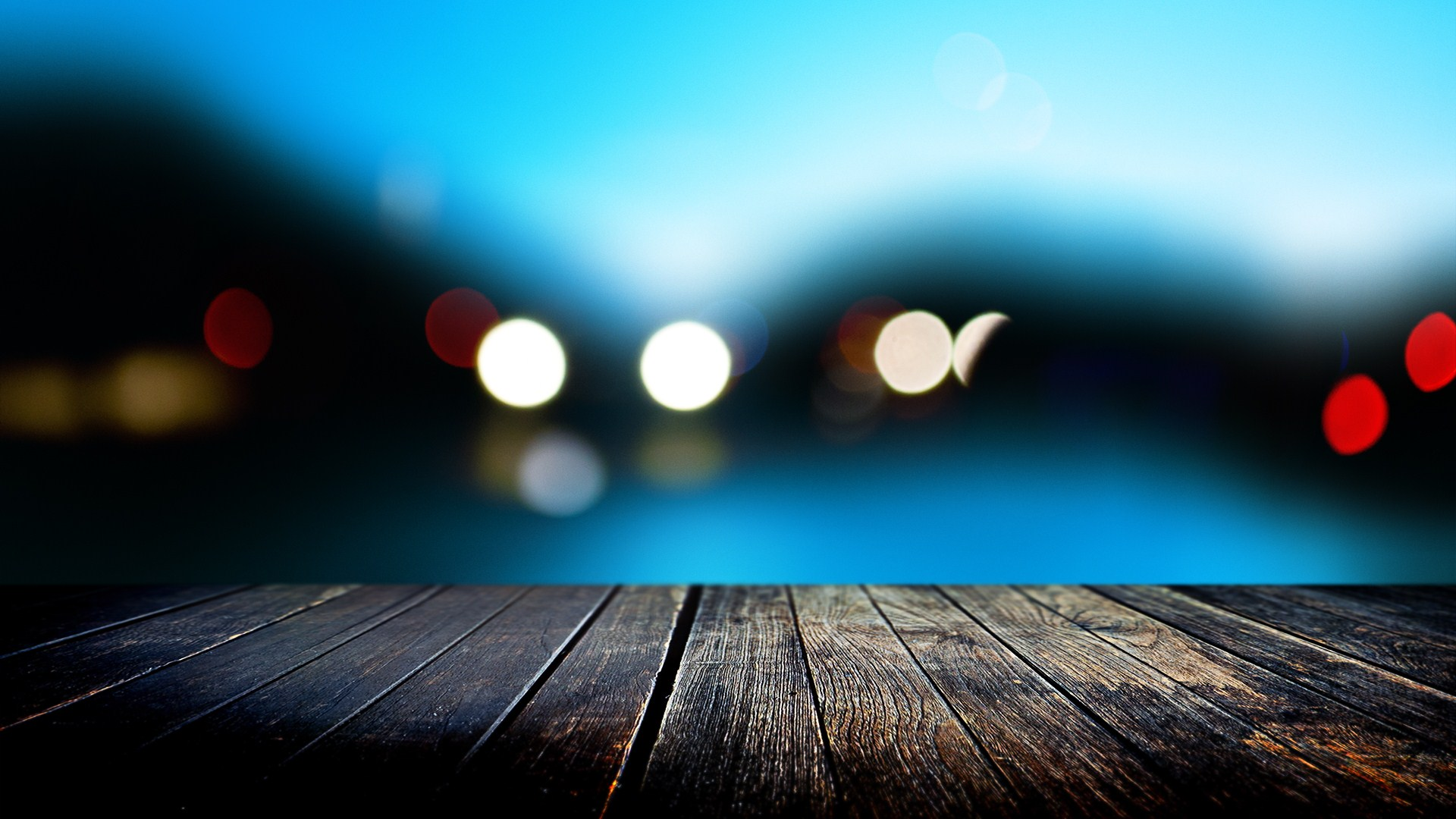 Endearing Best Hd Wallpaper: Special Wooden Bridge Deck in Night View Photography Blur Backgrounds River Wallpaper 1920x1080px