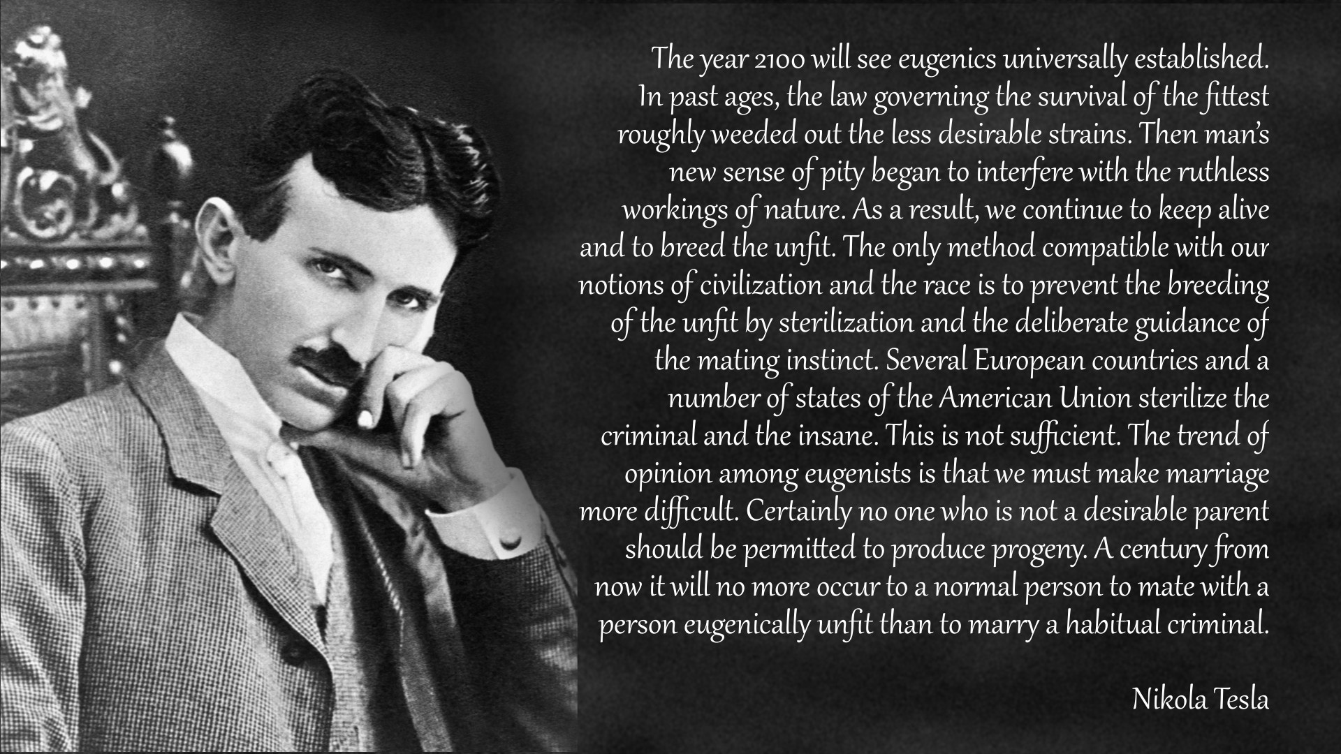 >mfw Tesla would have gassed tumblr. >