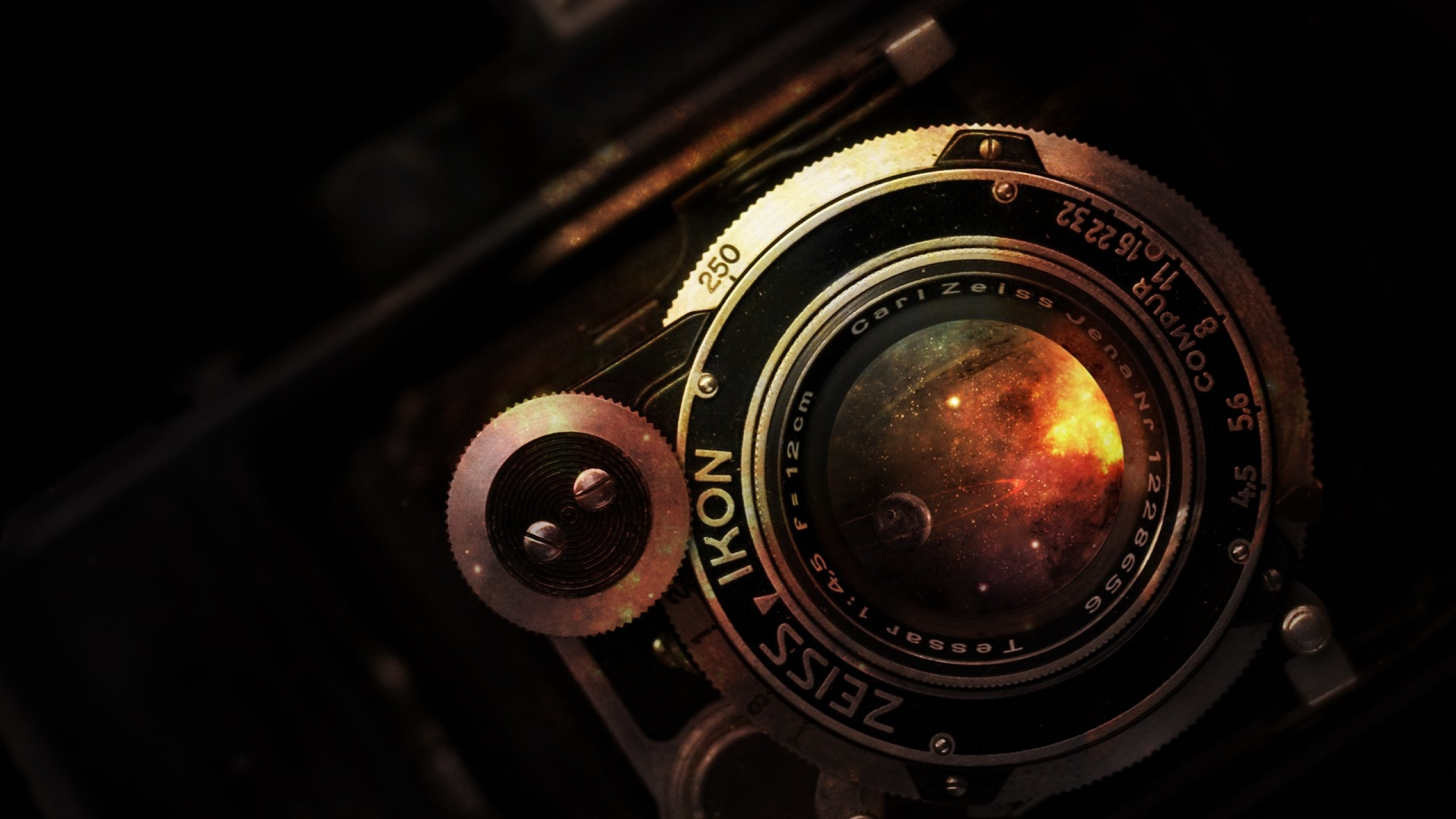 Preview wallpaper camera, lens, vintage, rarity, nikon 2560x1440