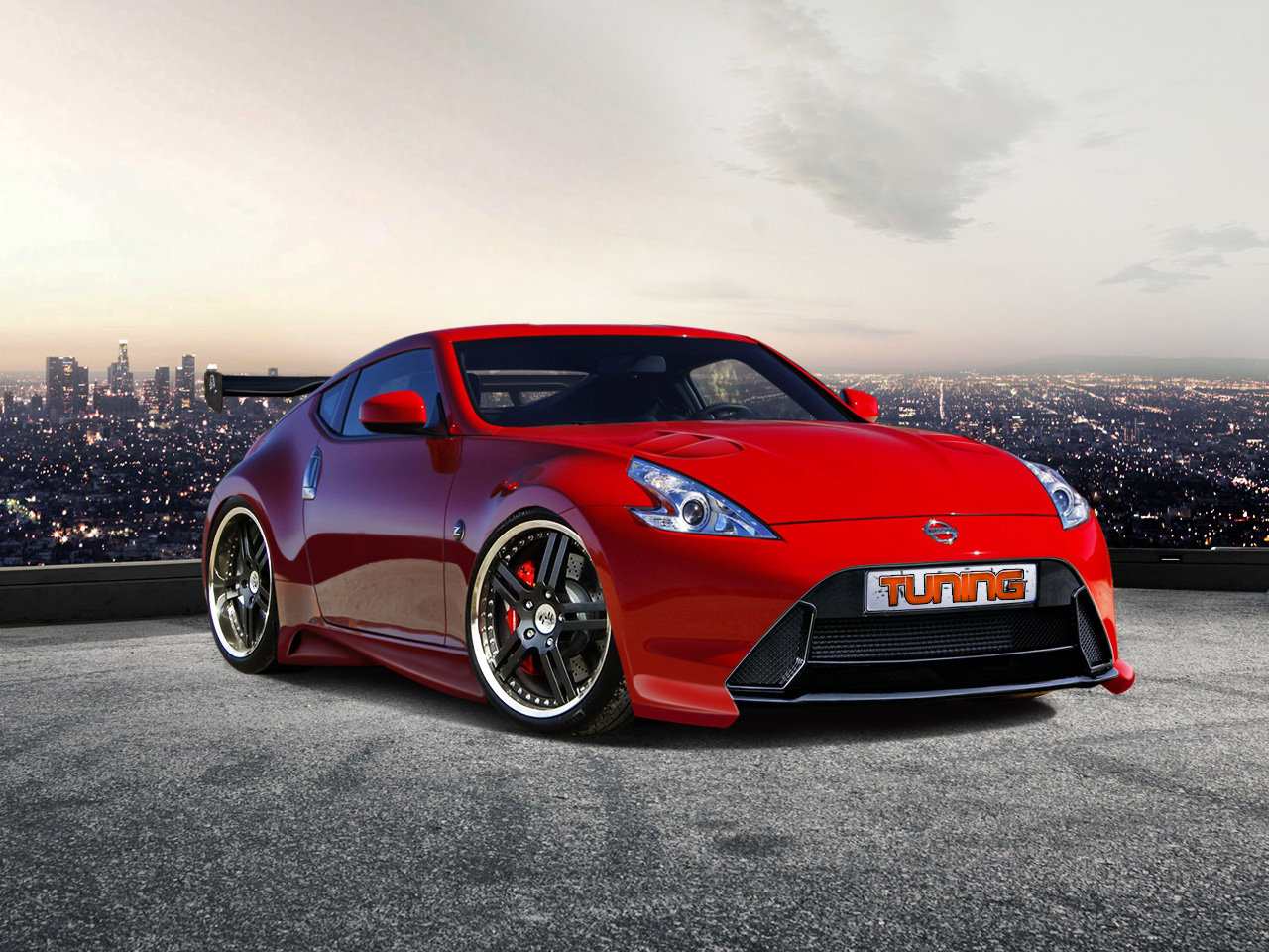 Red Nissan 370z Wallpaper Computer Wallpaper