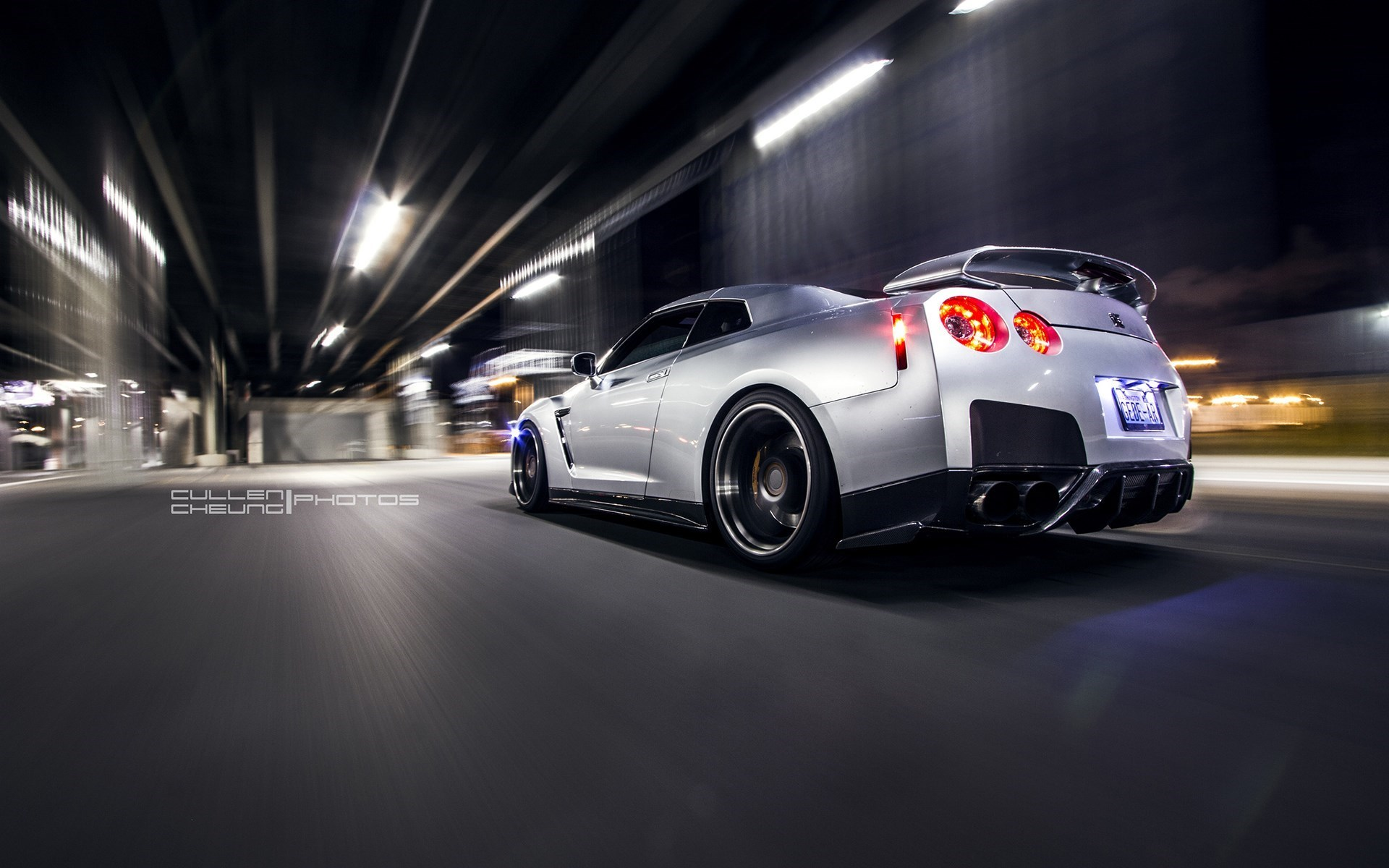 Nissan GT-R R35 Rear Car Wheels Tuning HD Wallpaper