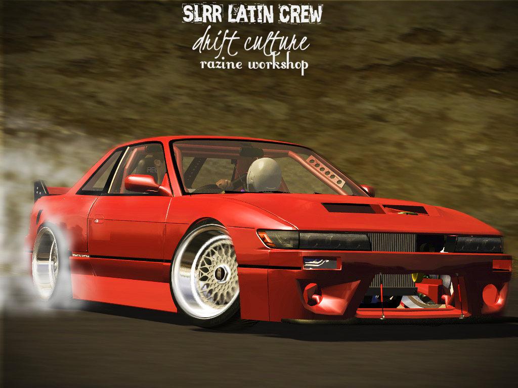 Nissan s13 silva drift