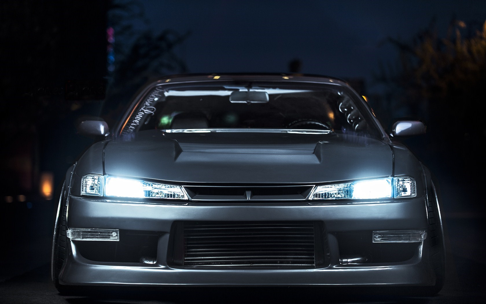 Nissan Silvia S14 Lights Night