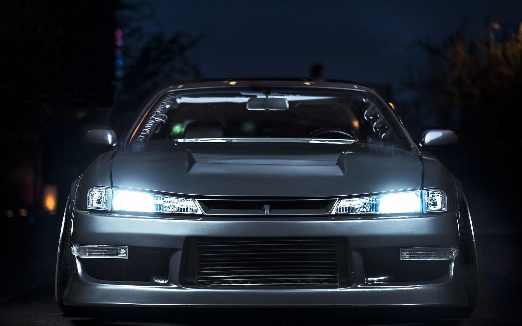Nissan Silvia S14 Lights Night