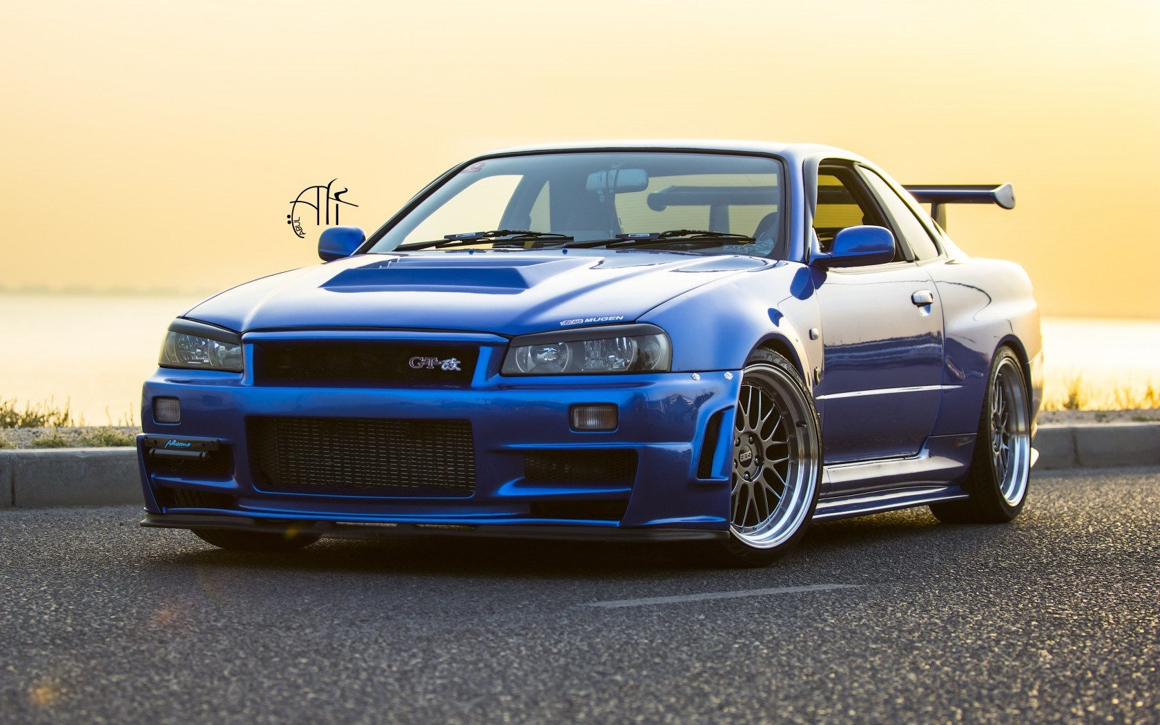 Nissan Skyline GT-R R34 Wheels Tuning Car HD Wallpaper