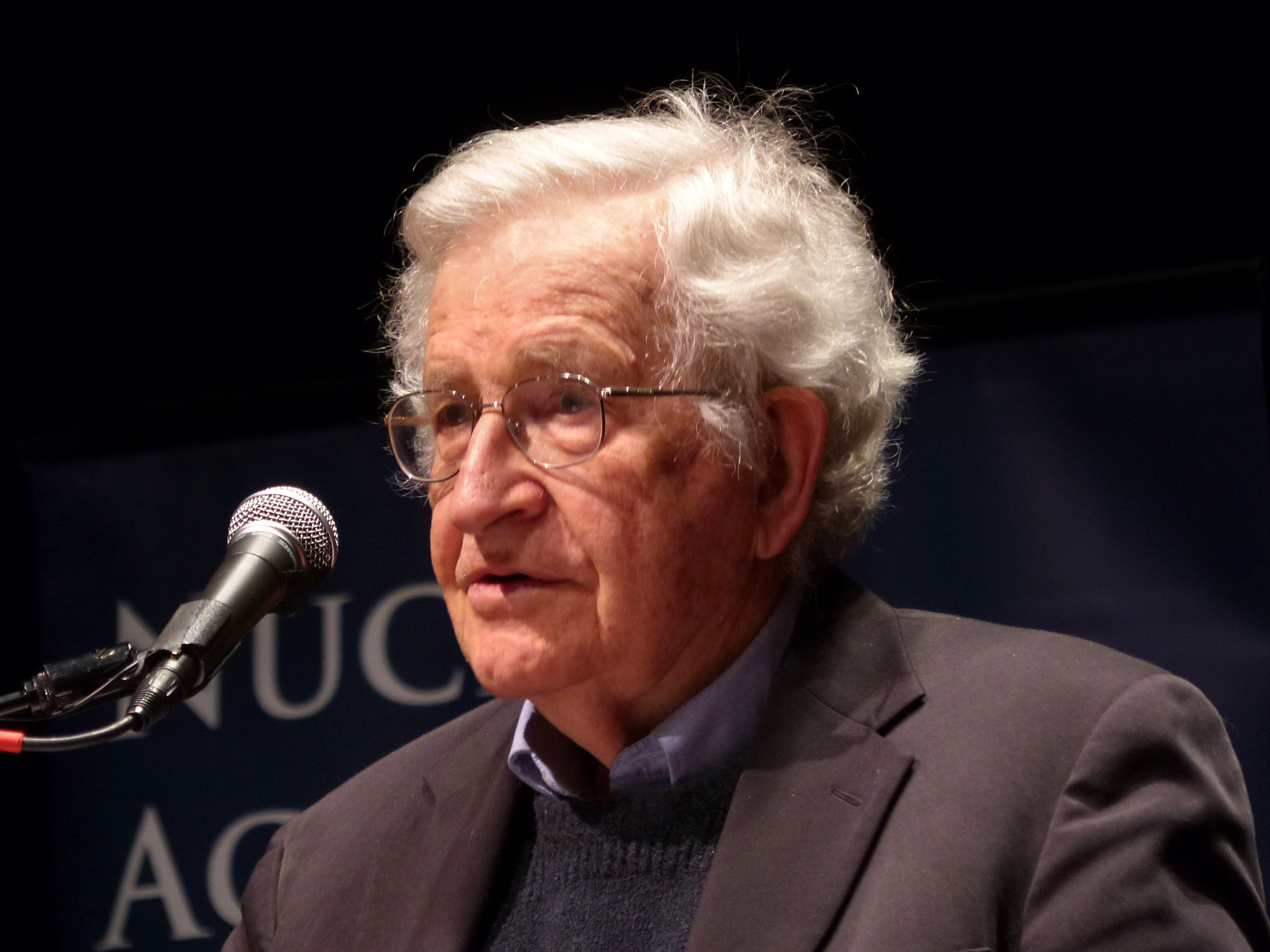Noam Chomsky Delivering the 13th Annual Frank K. Kelly Lecture on. Humanity's Future 20140228-080.JPG 274.67 KB