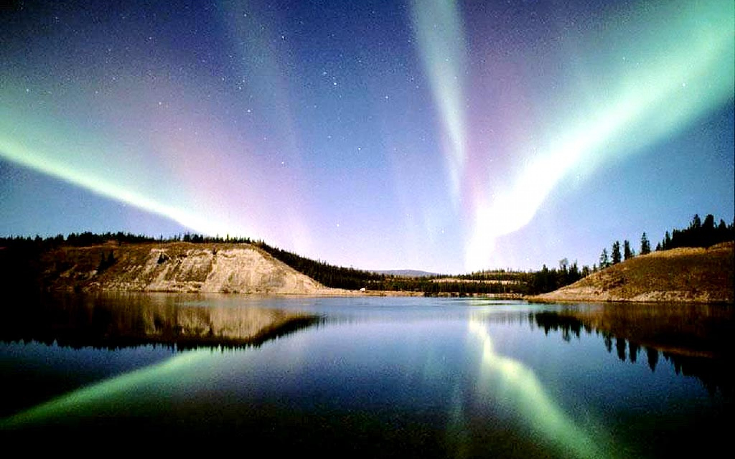 Blue Northern Lights Wallpaper Hd Dlwallhd Xpx 2560x1600px