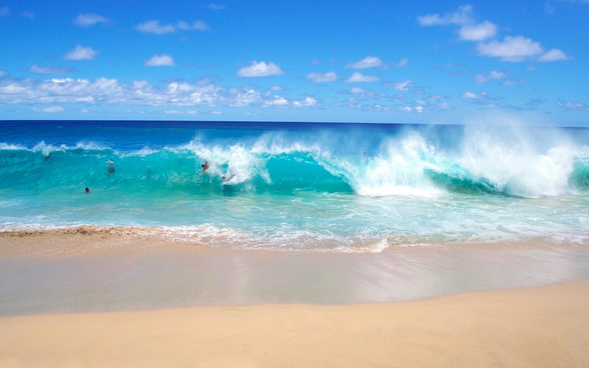 Ocean Beach Wallpaper: Ocean Waves Beach Desktop Wallpaper Spotimg 1920x1200px