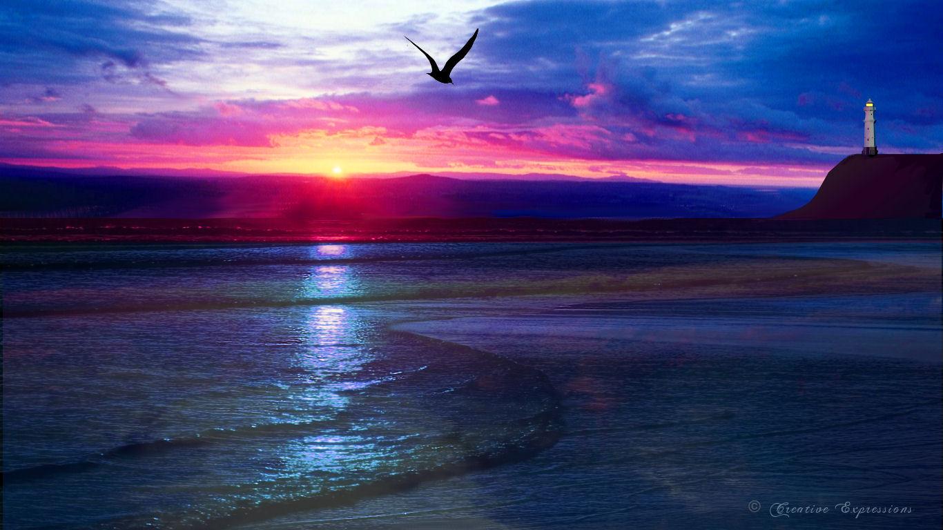 Ocean Sunset Wallpaper 5268