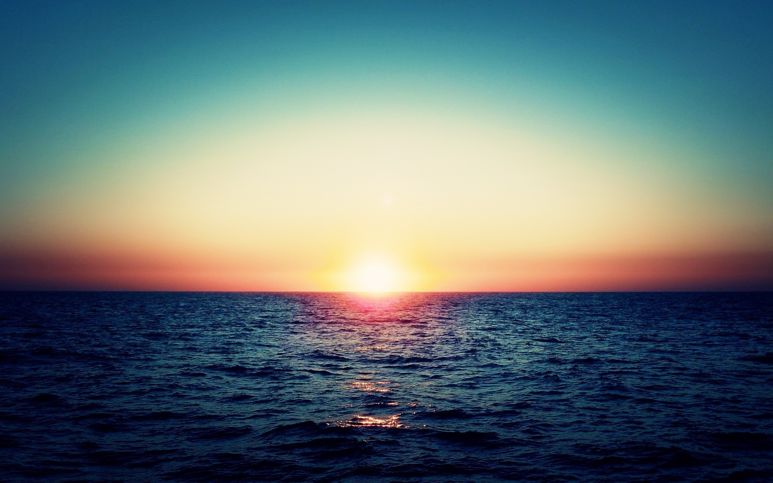 Ocean sunset horizon wallpaper | 2560x1600 | #31206