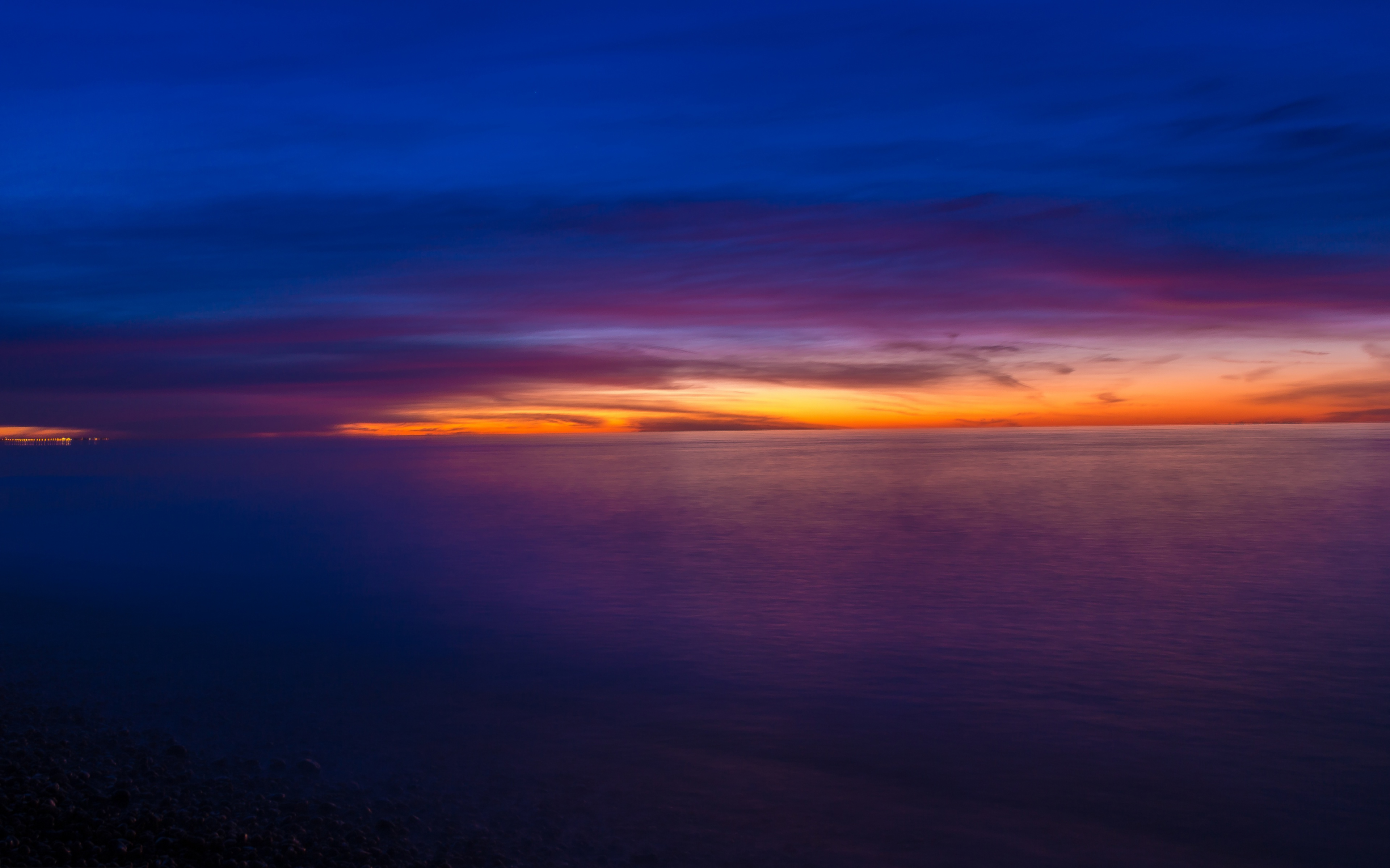 Ocean sunset sky
