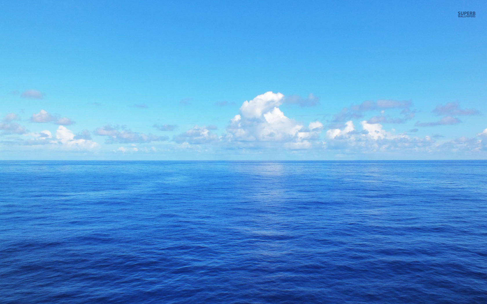Blue ocean wallpaper 1680x1050