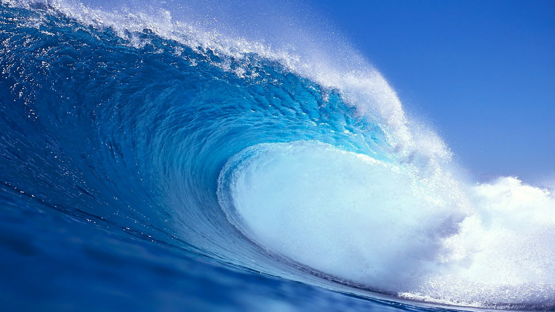 Download Hd Blue Wave Wallpaper Free by Warnerboutique