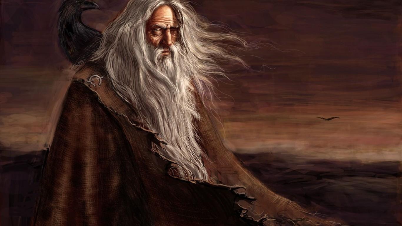 Odin Mythology Ravens Gods Paganism Wallpaper