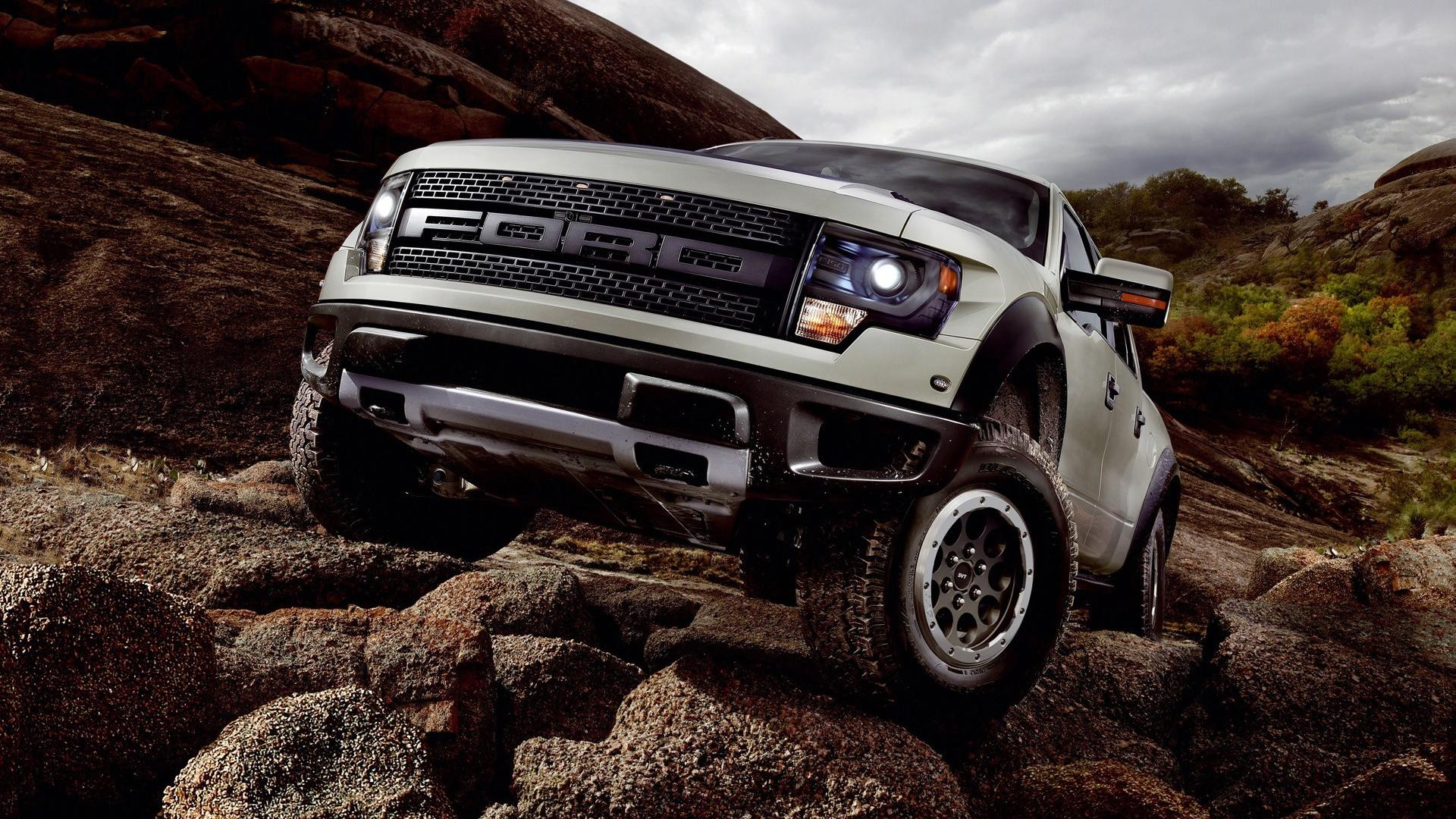 Cars static svt ford f-150 raptor offroad wallpaper