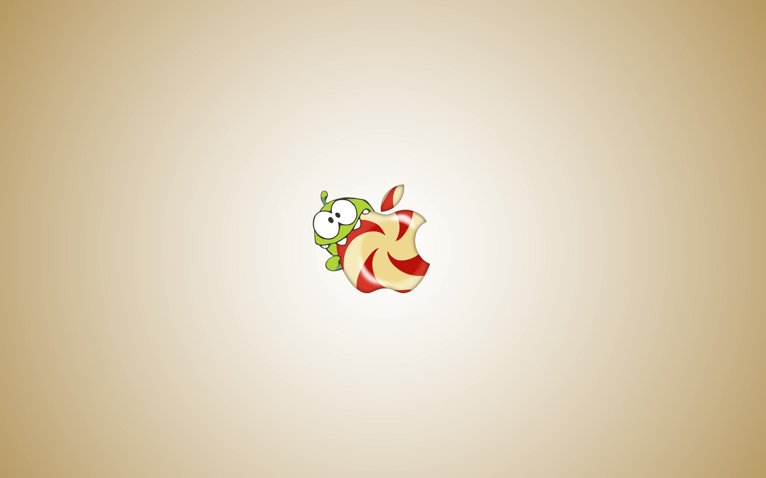 Om Nom Cut The Rope Apple Candy Game Art