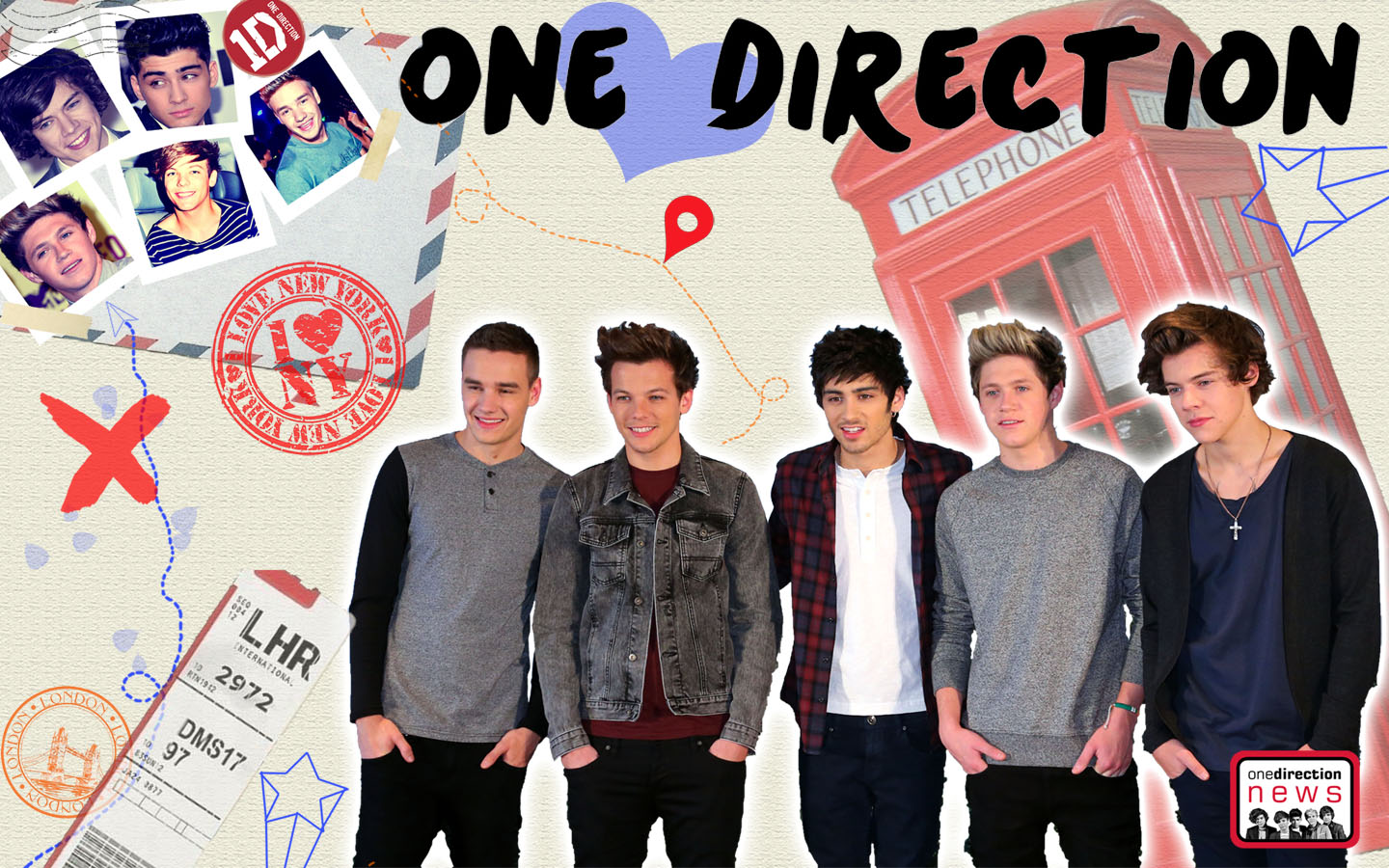 ... 1920 x 1200. Cartoon 1D desktop wallpaper