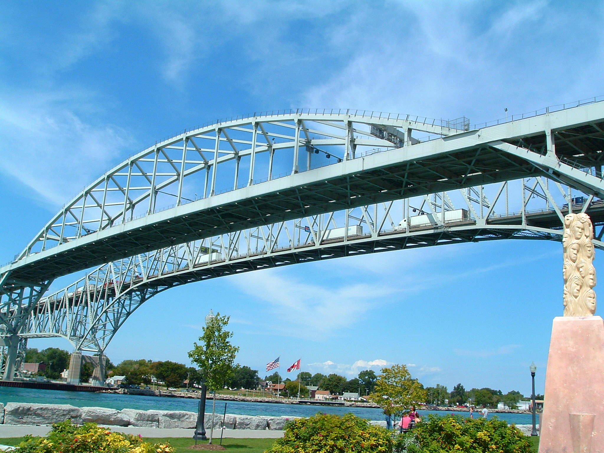 Ontario blue water bridge