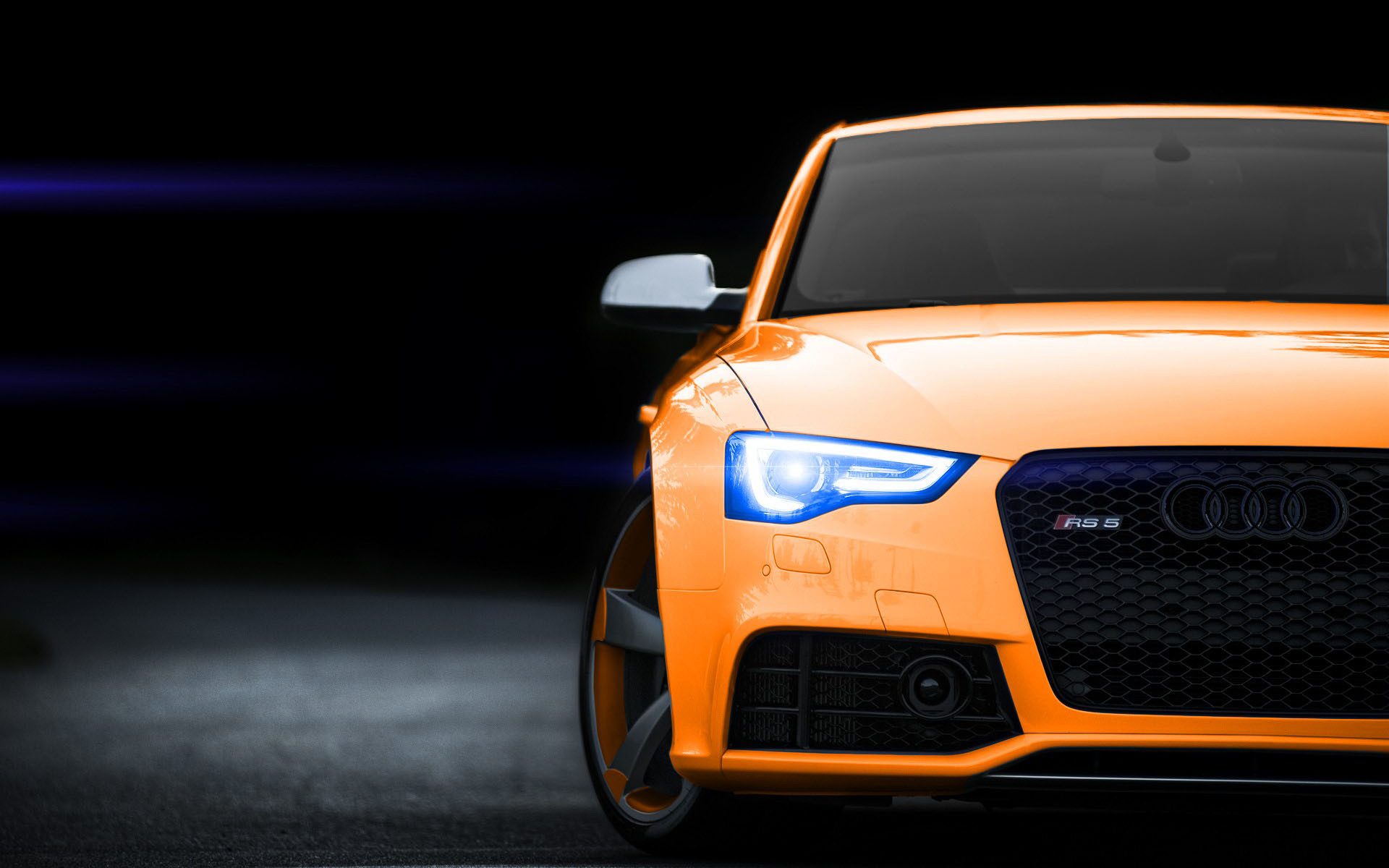 Orange audi rs5