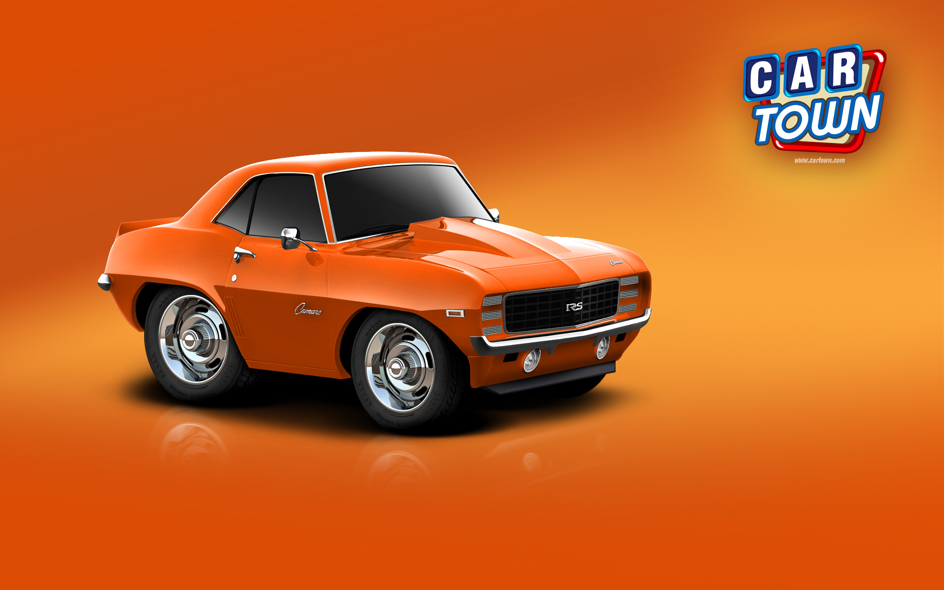 Orange Car Background