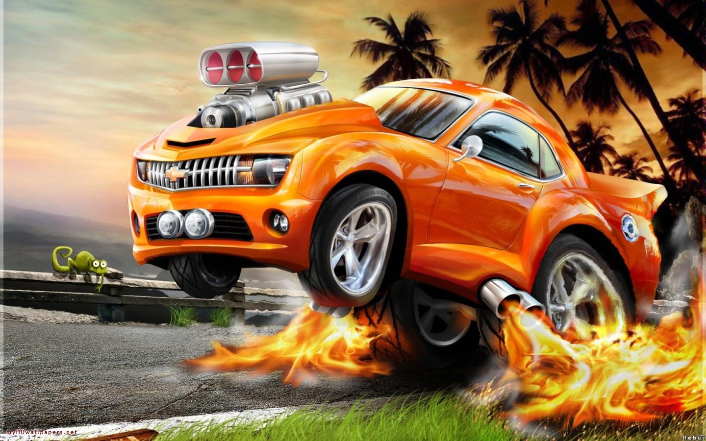 Bright orange car. 1280 x 800 | 1366 x 768 ...