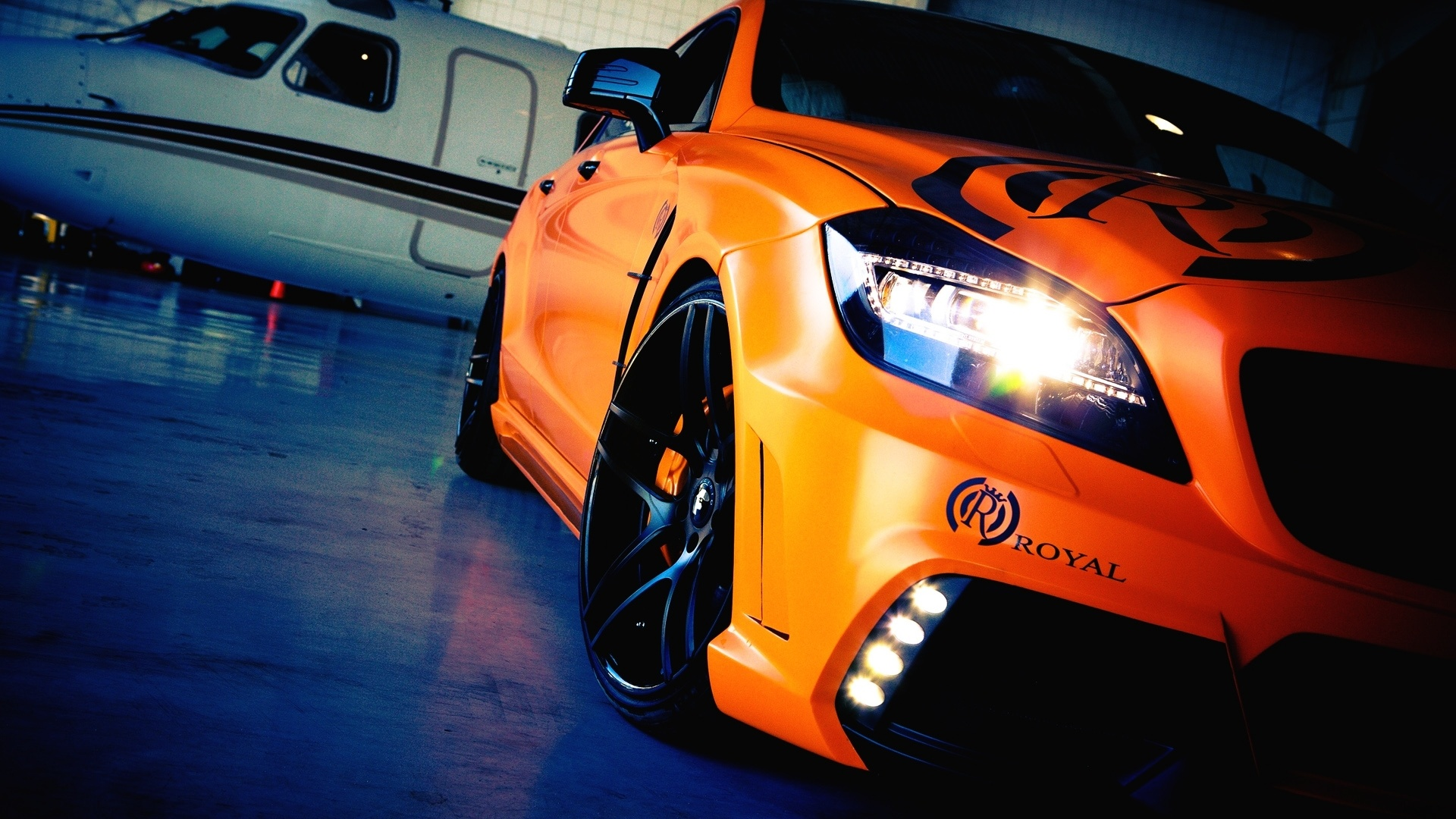 Orange Car Wallpaper HD
