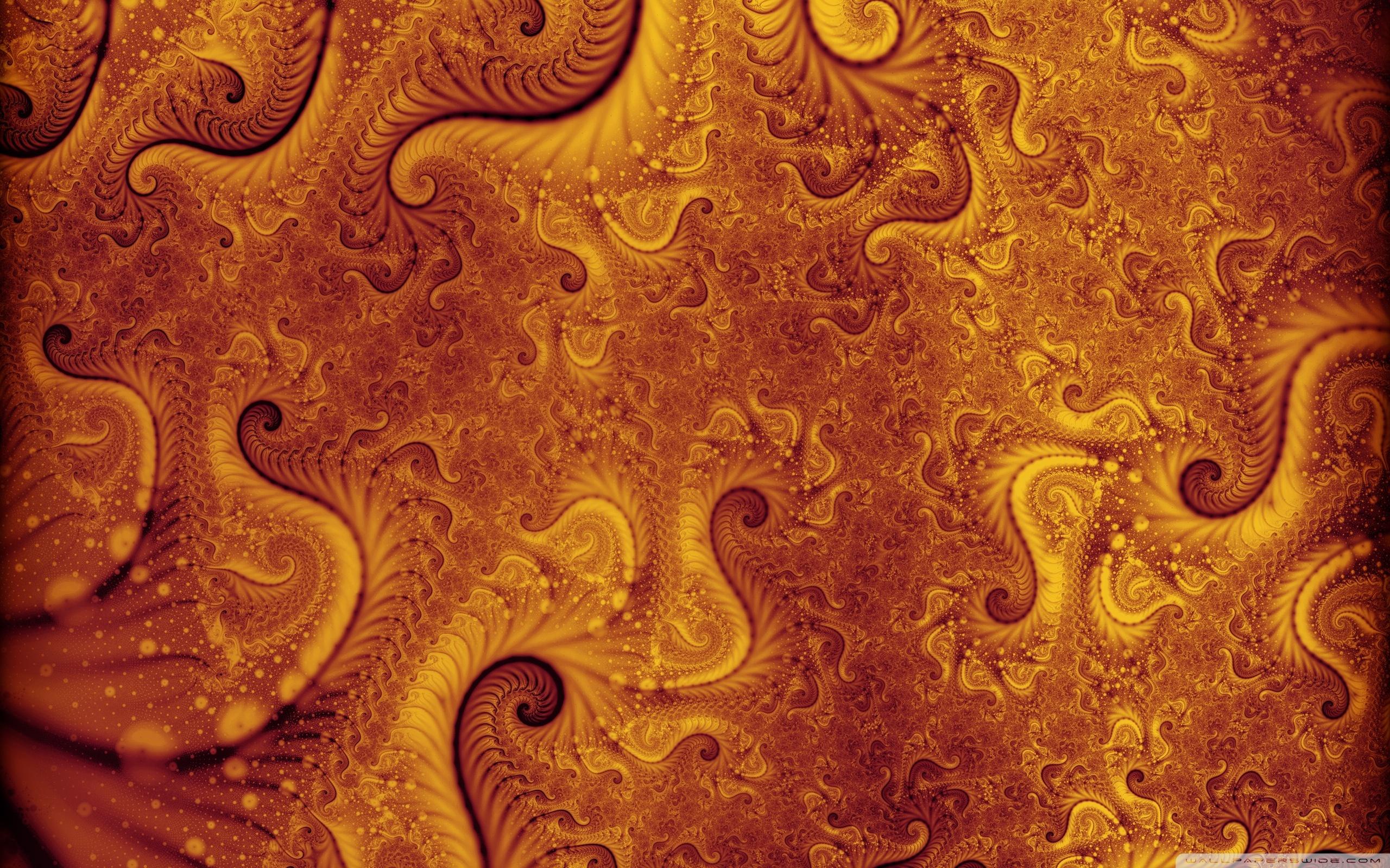 Orange Fractal Wallpaper