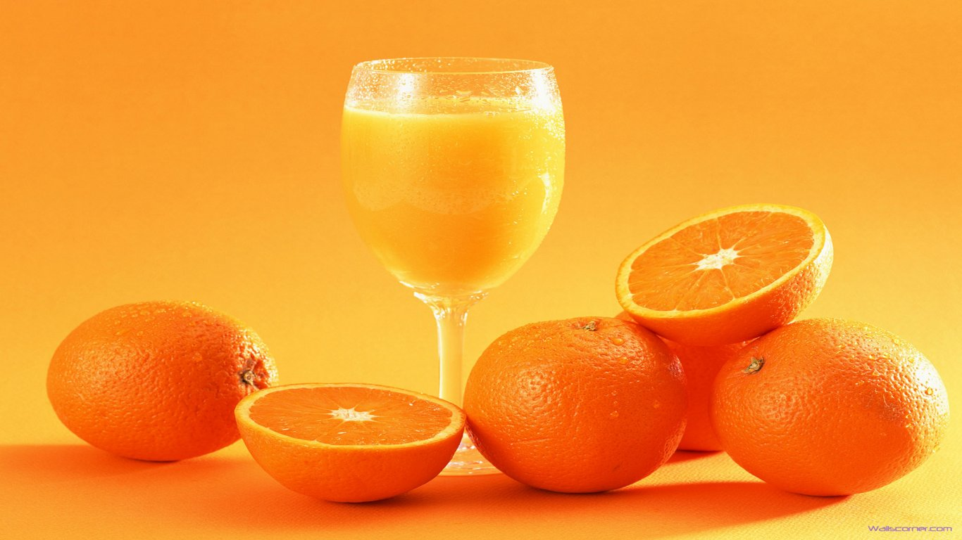 Orange Juice Wallpaper