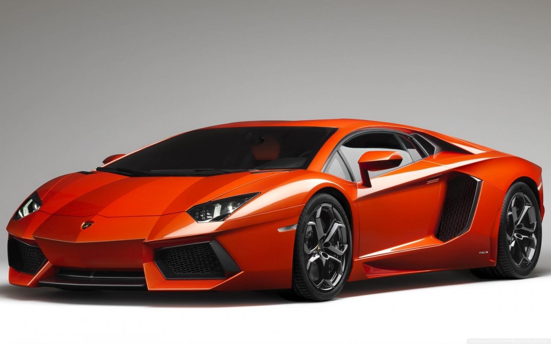 Orange Lambo Aventador