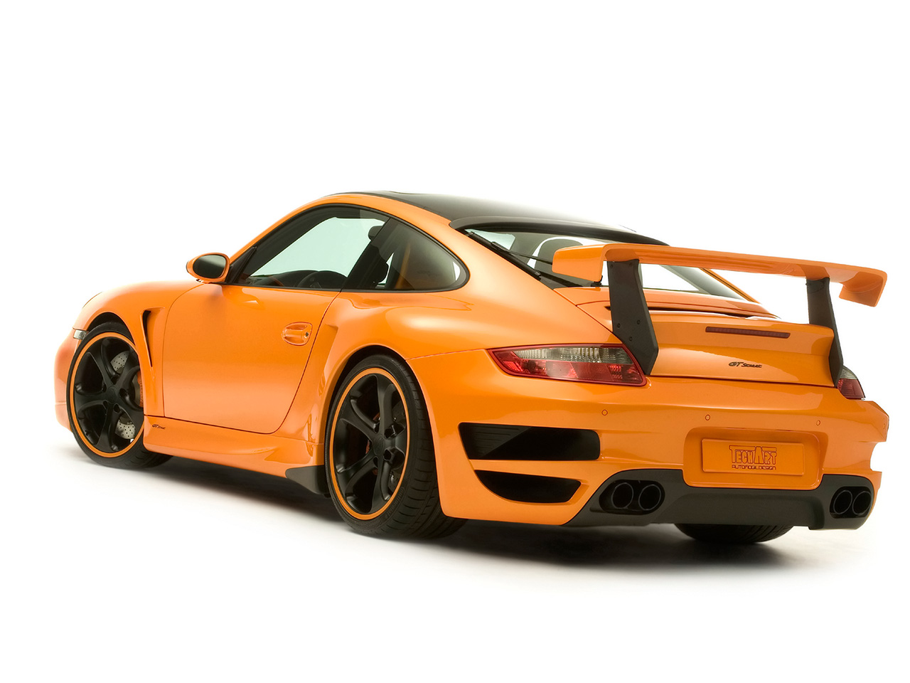 A Convertible Porsche 911 997 Turbo A Orange Porsche 911 997 Turbo ...