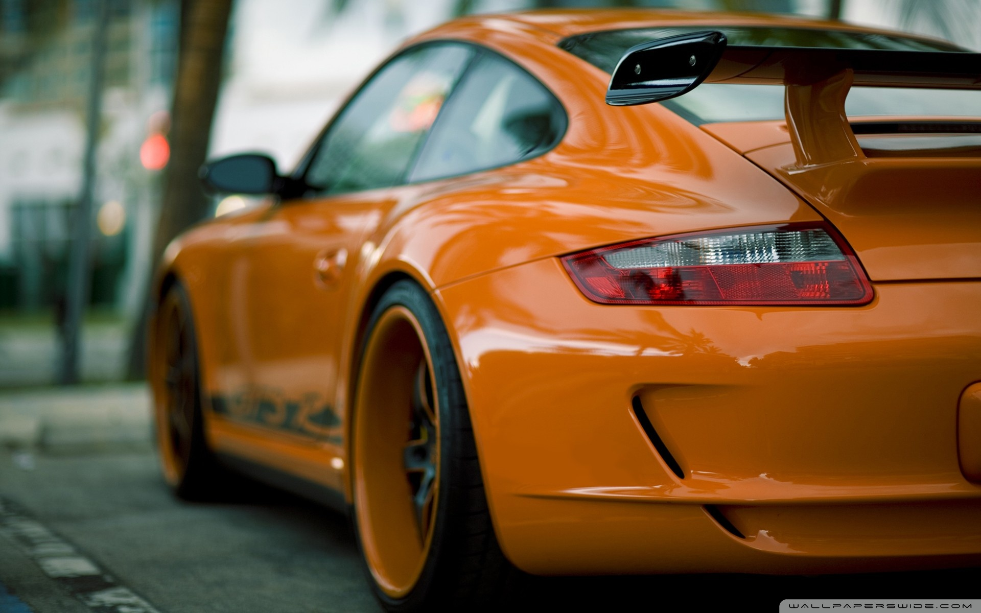 Orange Porsche Wallpaper