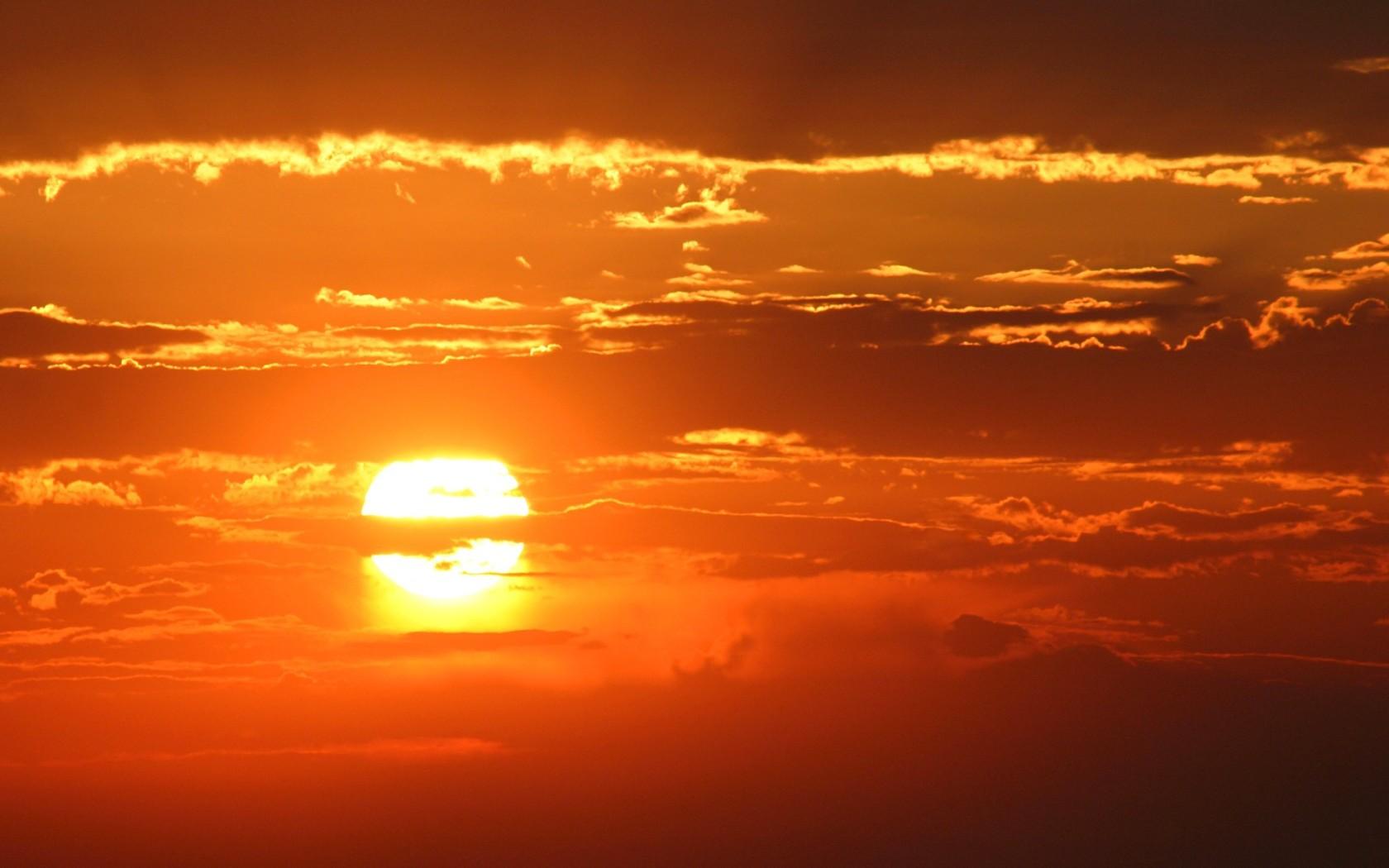 orange sunset wallpaper 1680x1050 60068