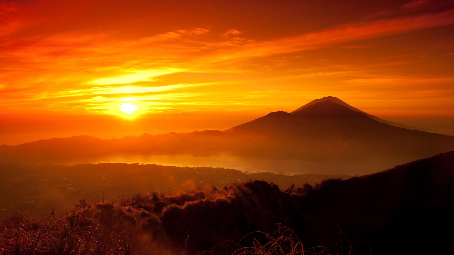 Orange Sunset Wallpaper HD-5