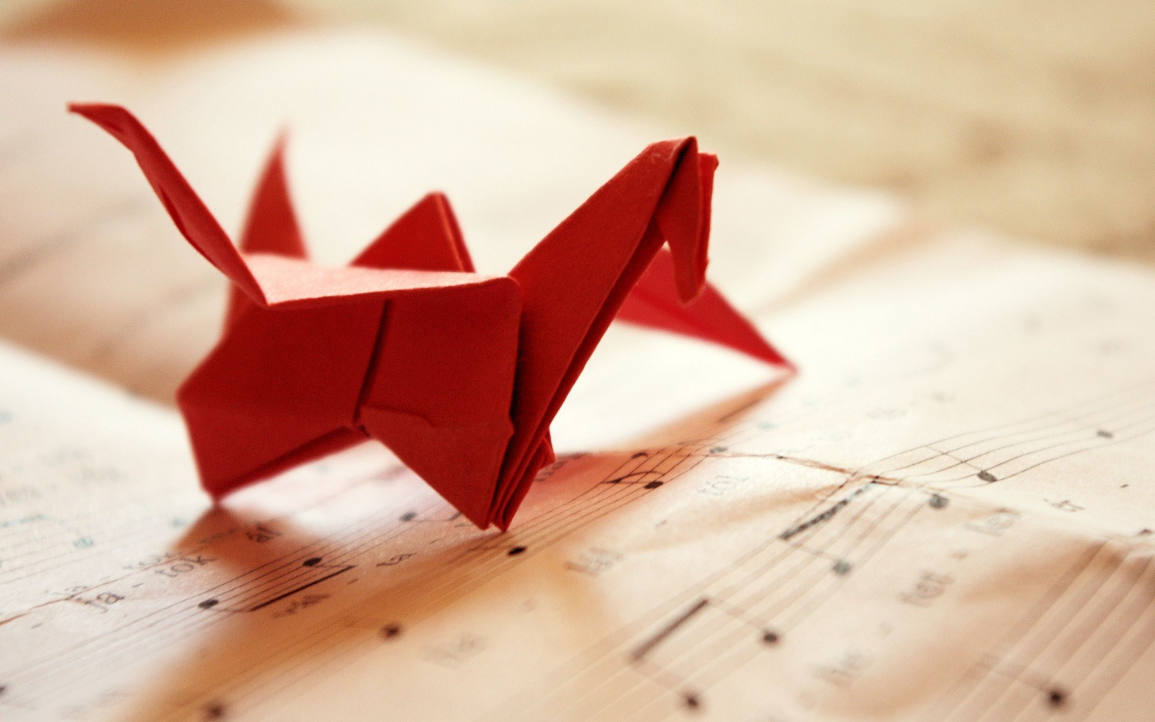 Origami Bird Music Paper