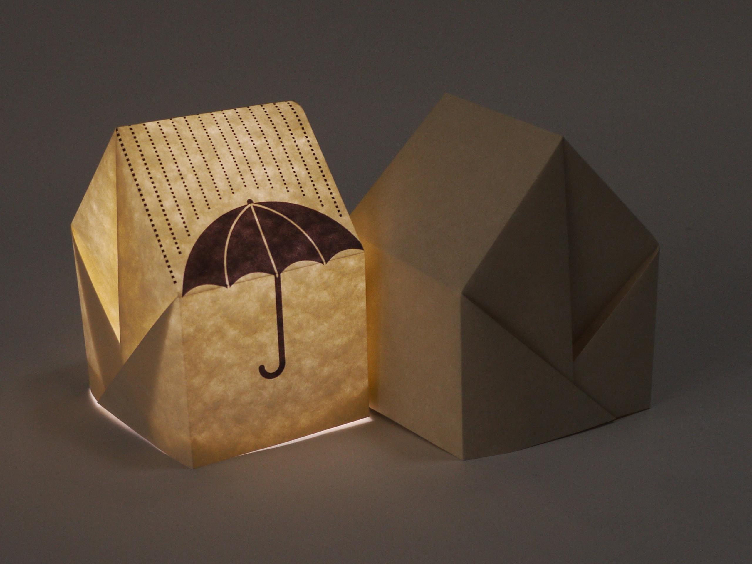 Origami House Night Lamp