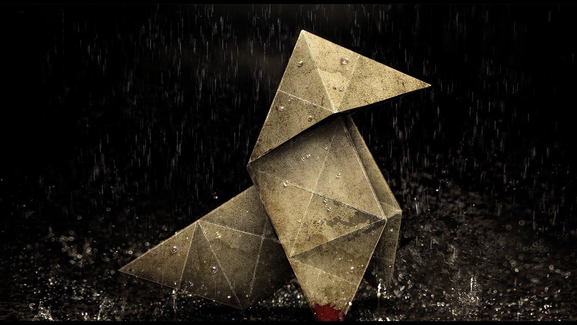 Origami in rain