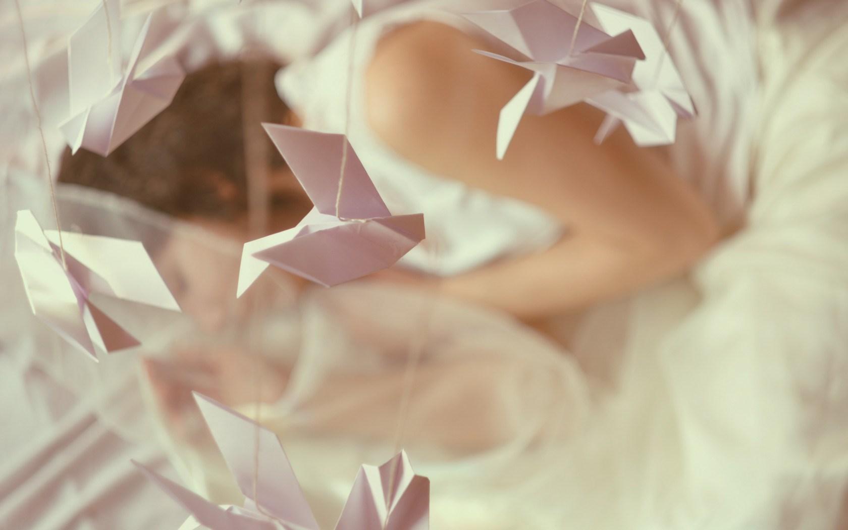 Origami Paper Rope Girl Mood