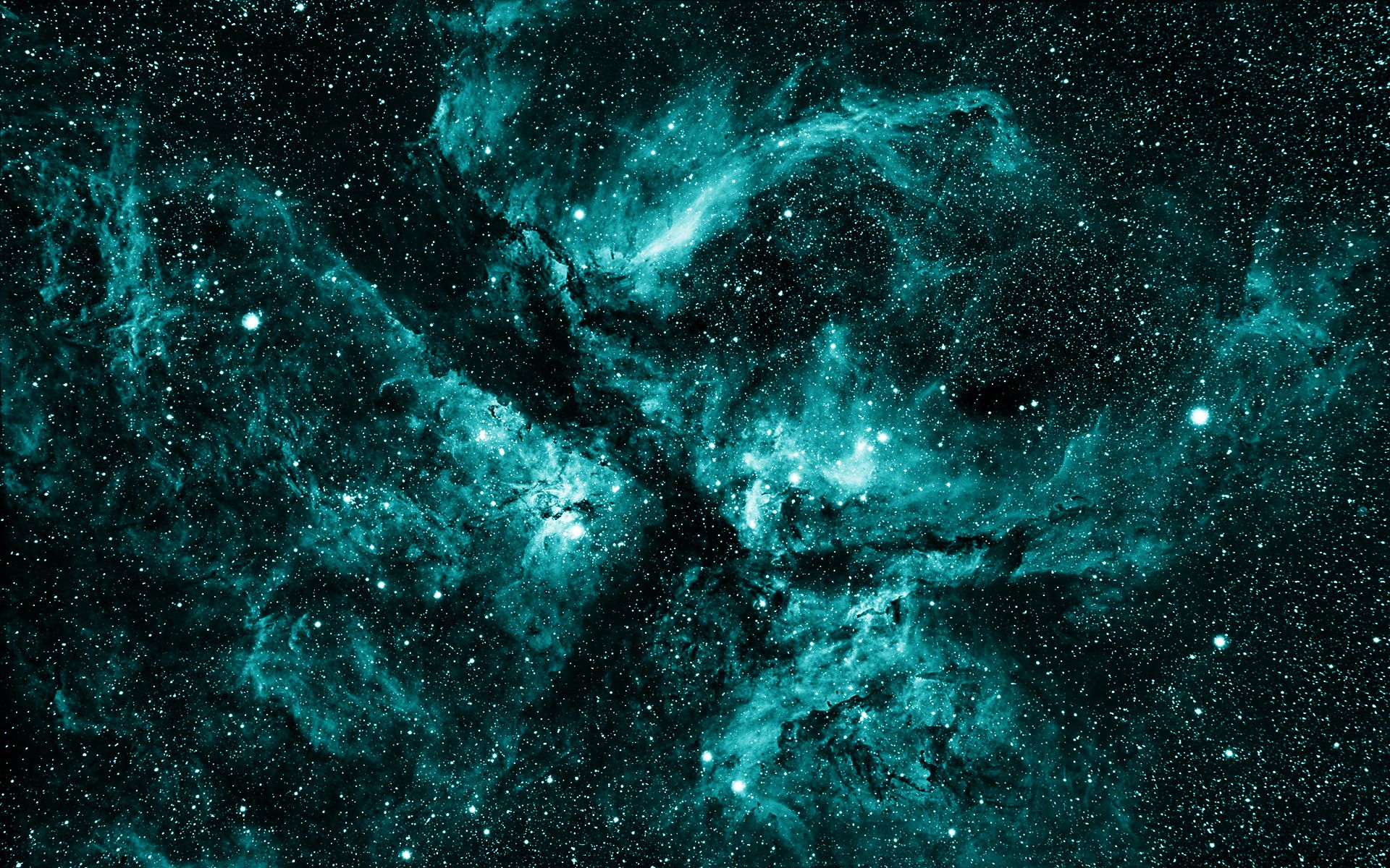 teal space nebula - photo #16