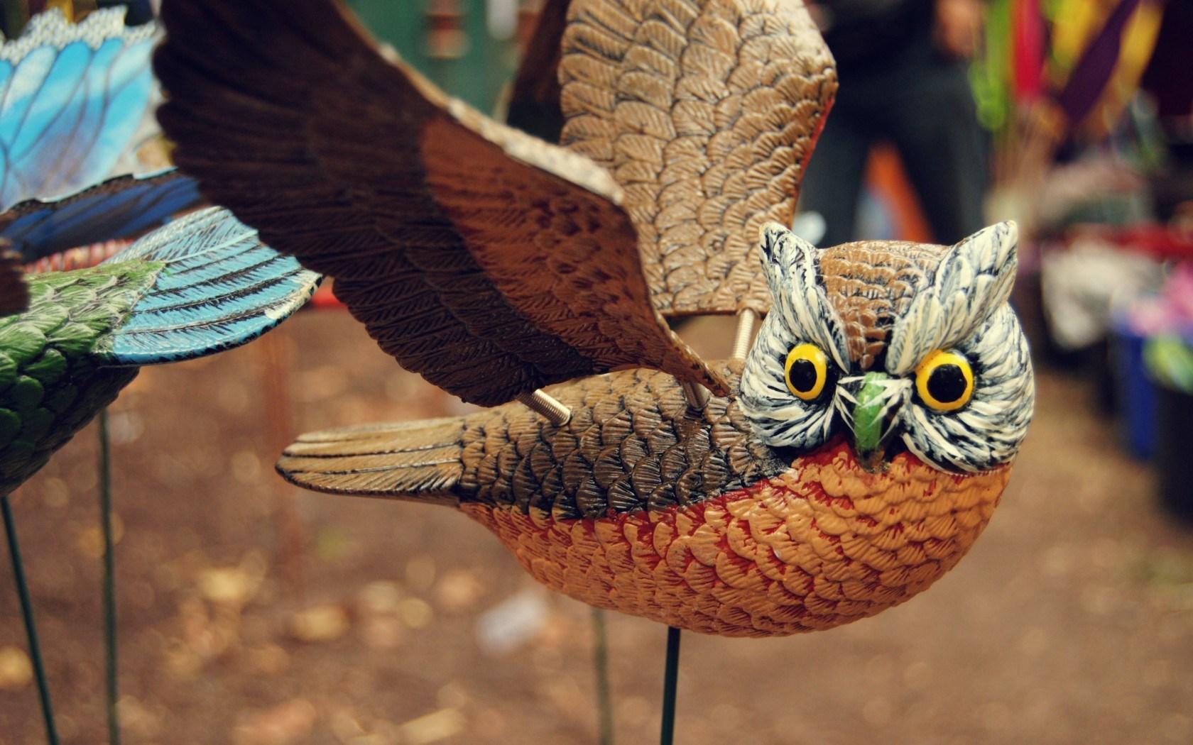 Owl Bird Wings Figure