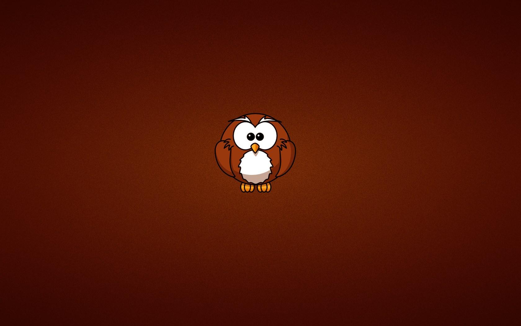 Owl Minimalism Art Cartoon