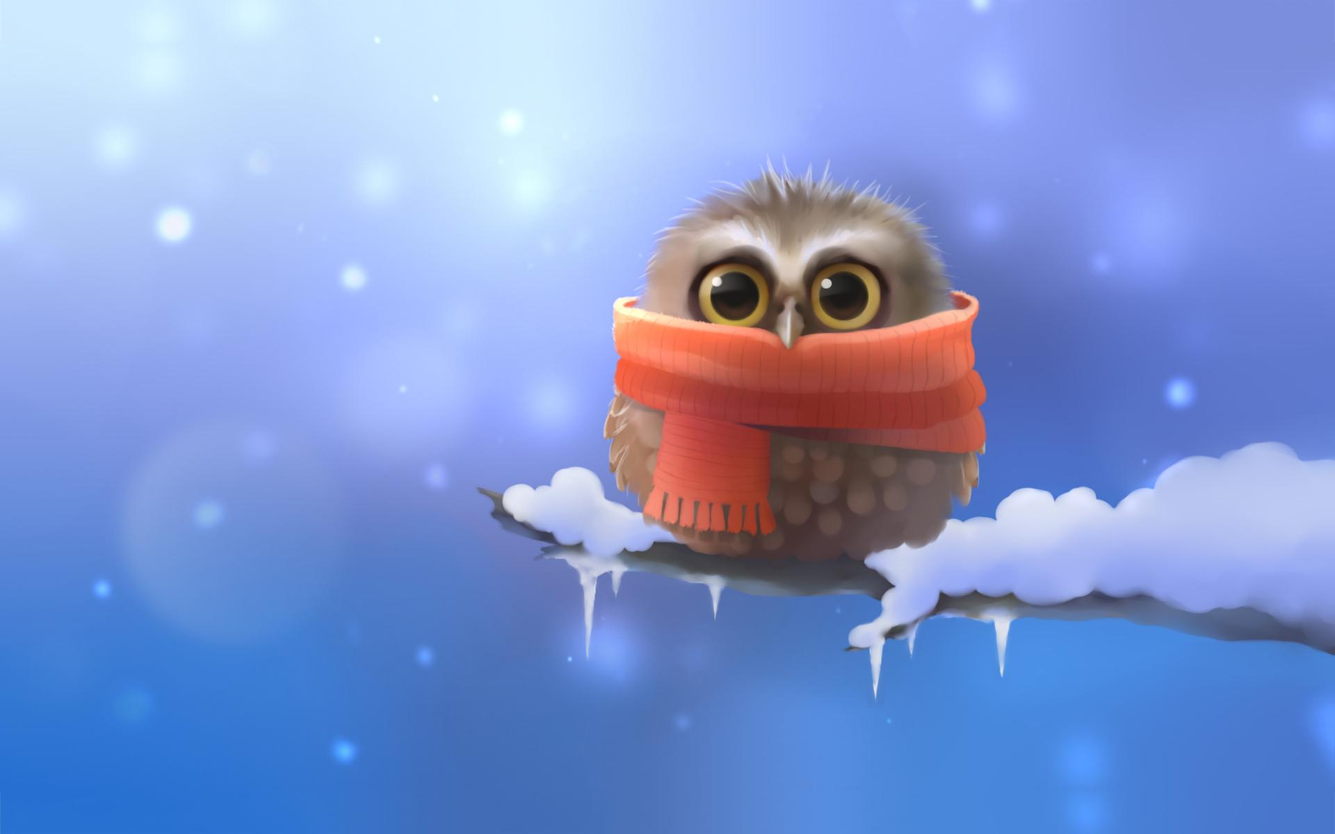 Owl scarf art