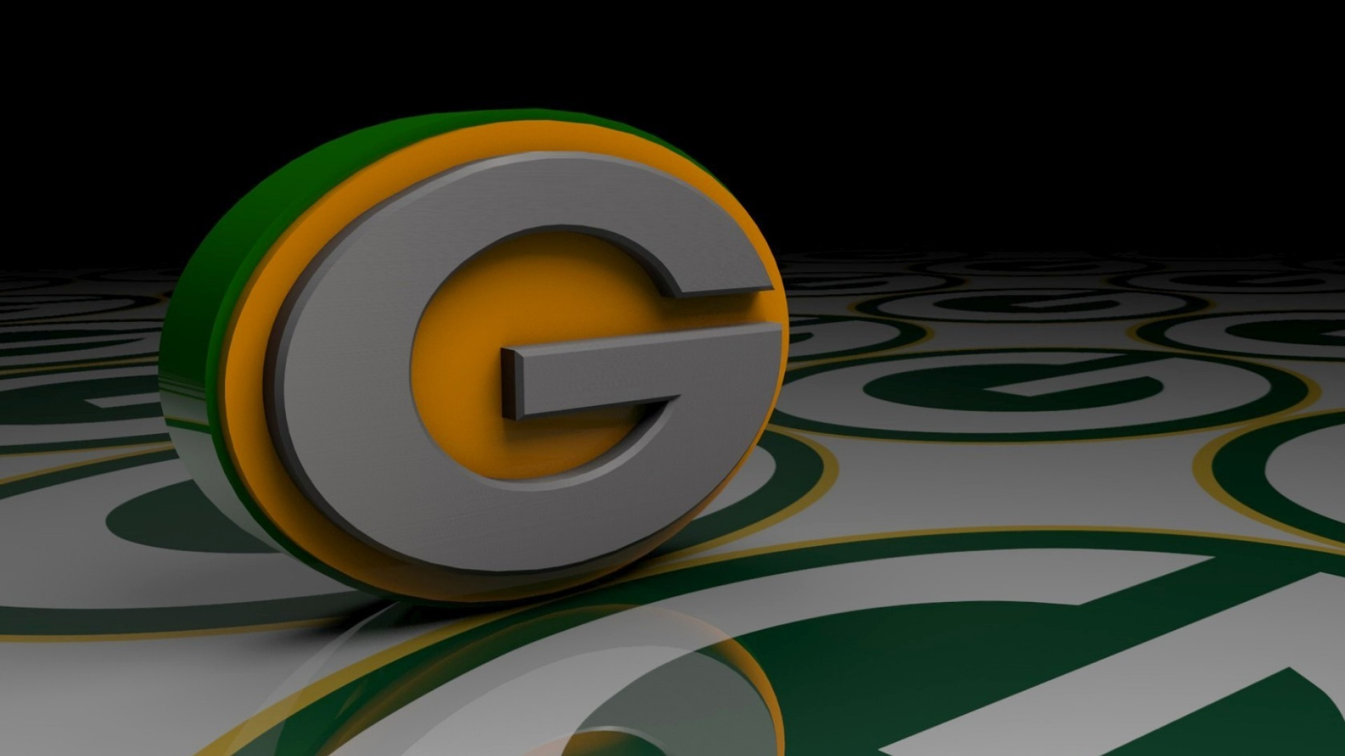 ... Green Bay Packers Logo 3D Wallpaper ...