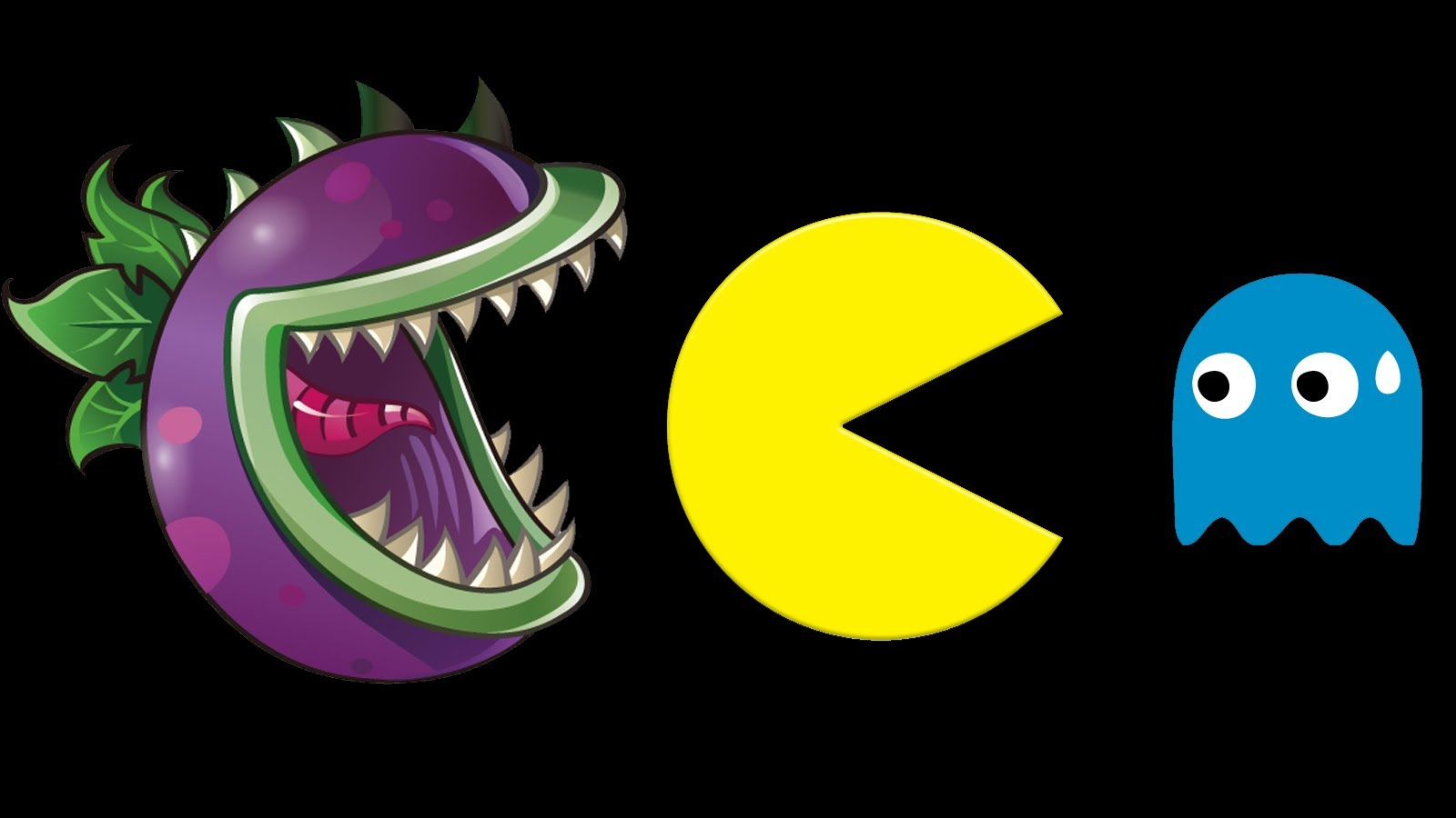 Plants vs Zombies vs Pac Man