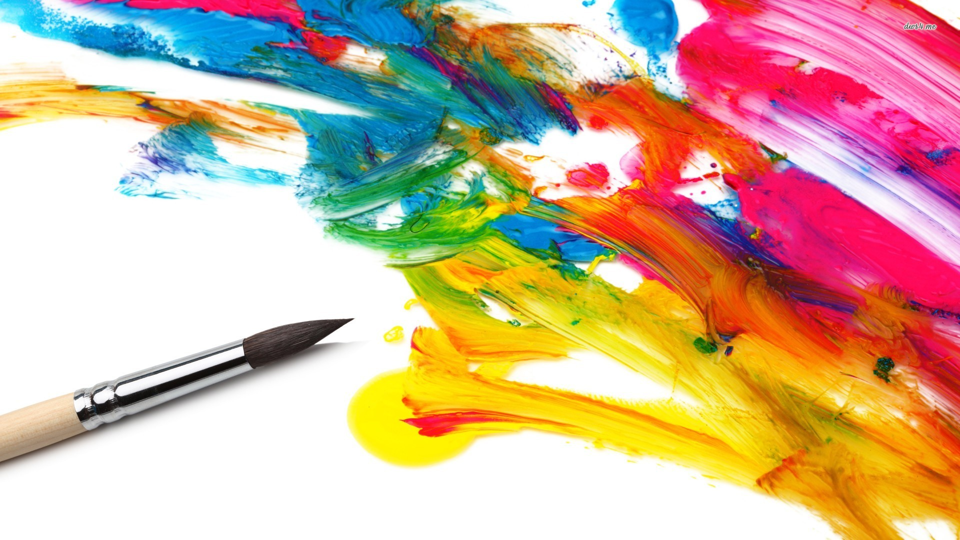 Paint strokes .