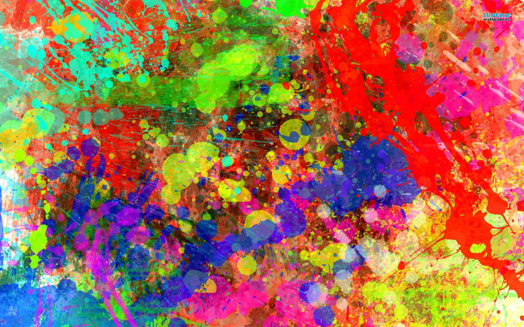 paint splatter photography | Paint splash wallpaper 1680x1050