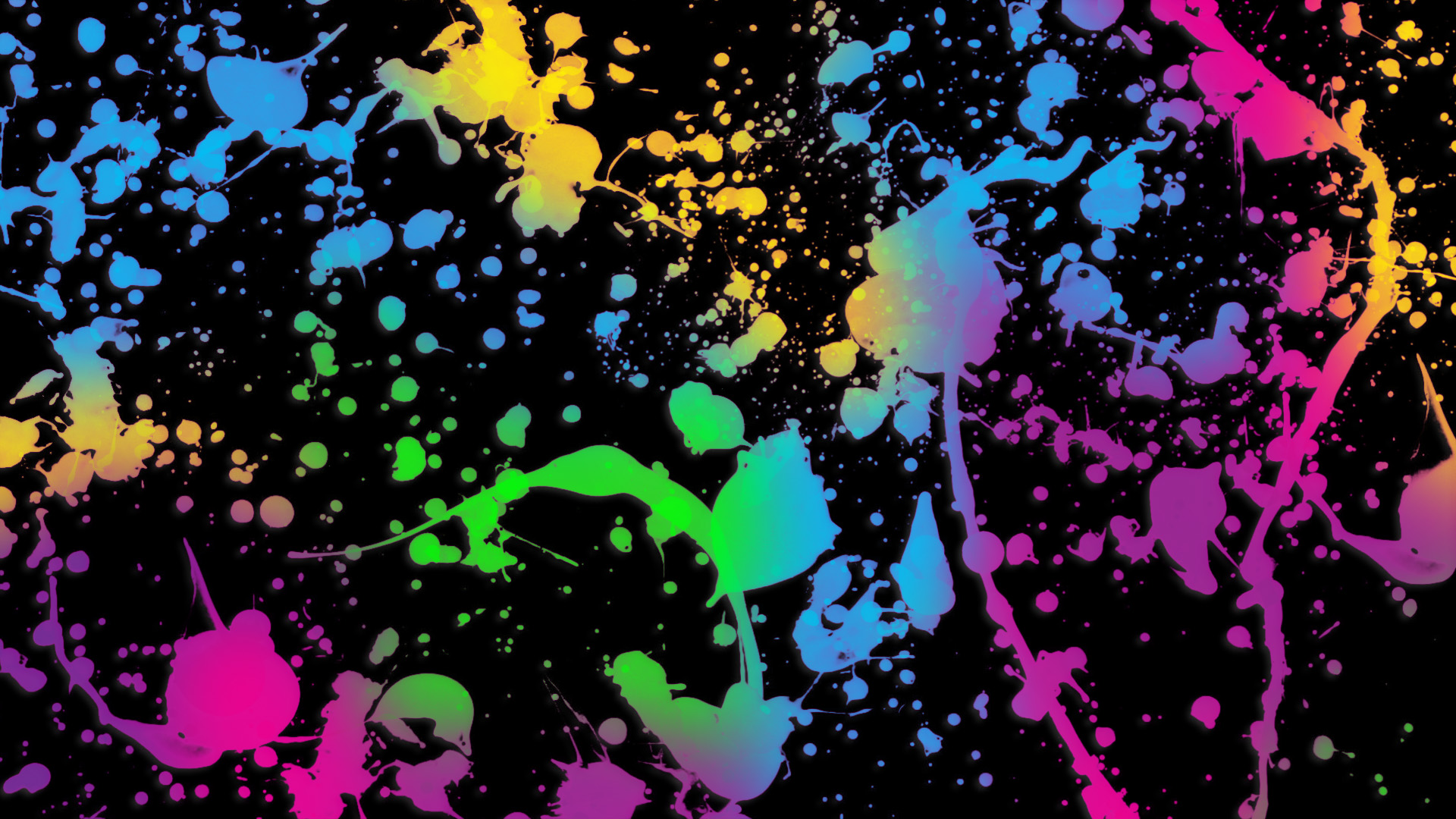 You can download Glowing neon paint splatter backgrounds wallpaper Wide in your computer by clicking resolution image in Download by size:.