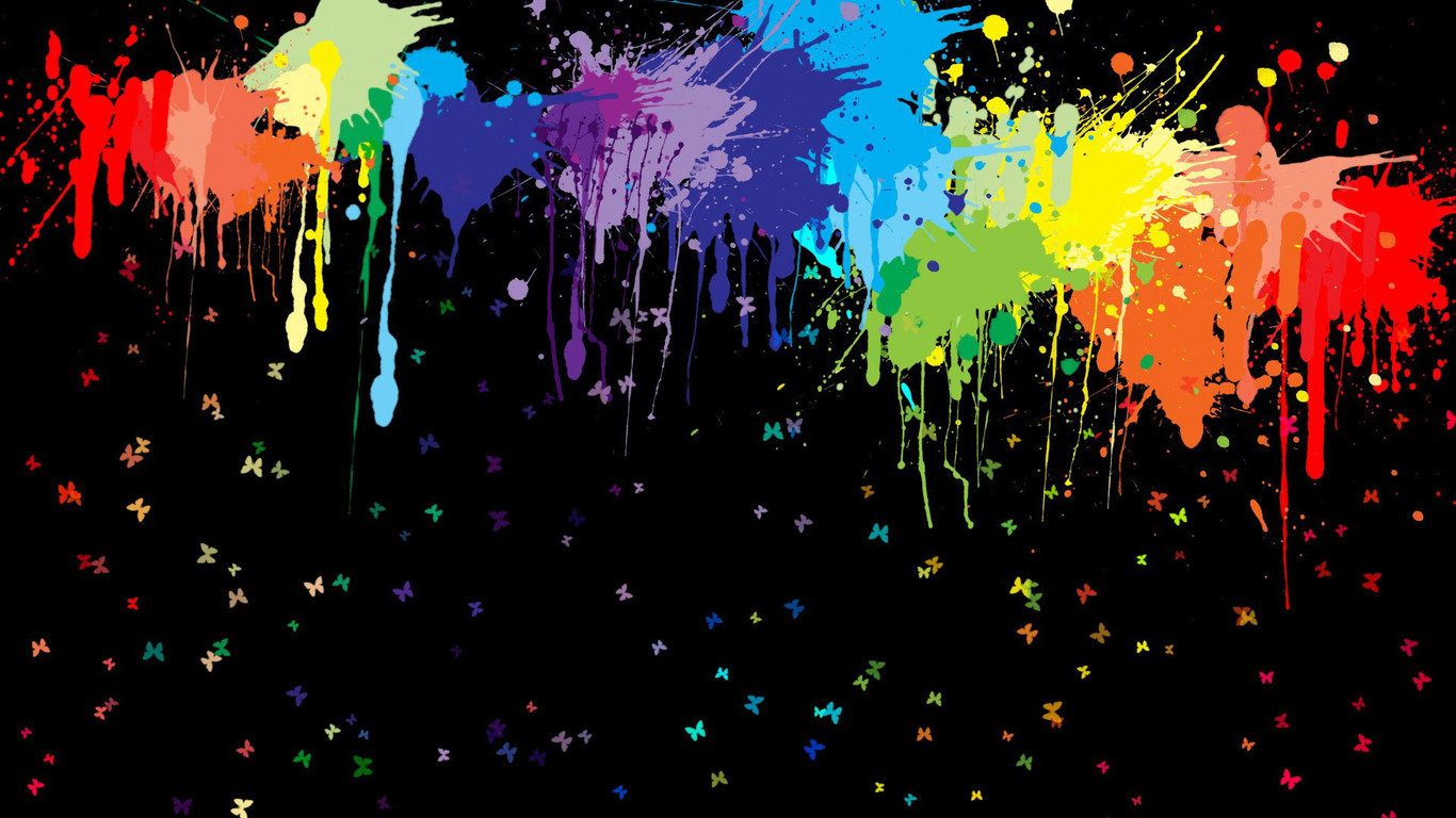 Paint Splatter Background wallpaper | 1366x768 | #57640