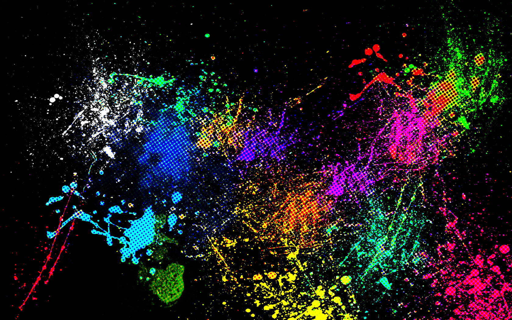 Colorful Paint Splatter Wallpaper7